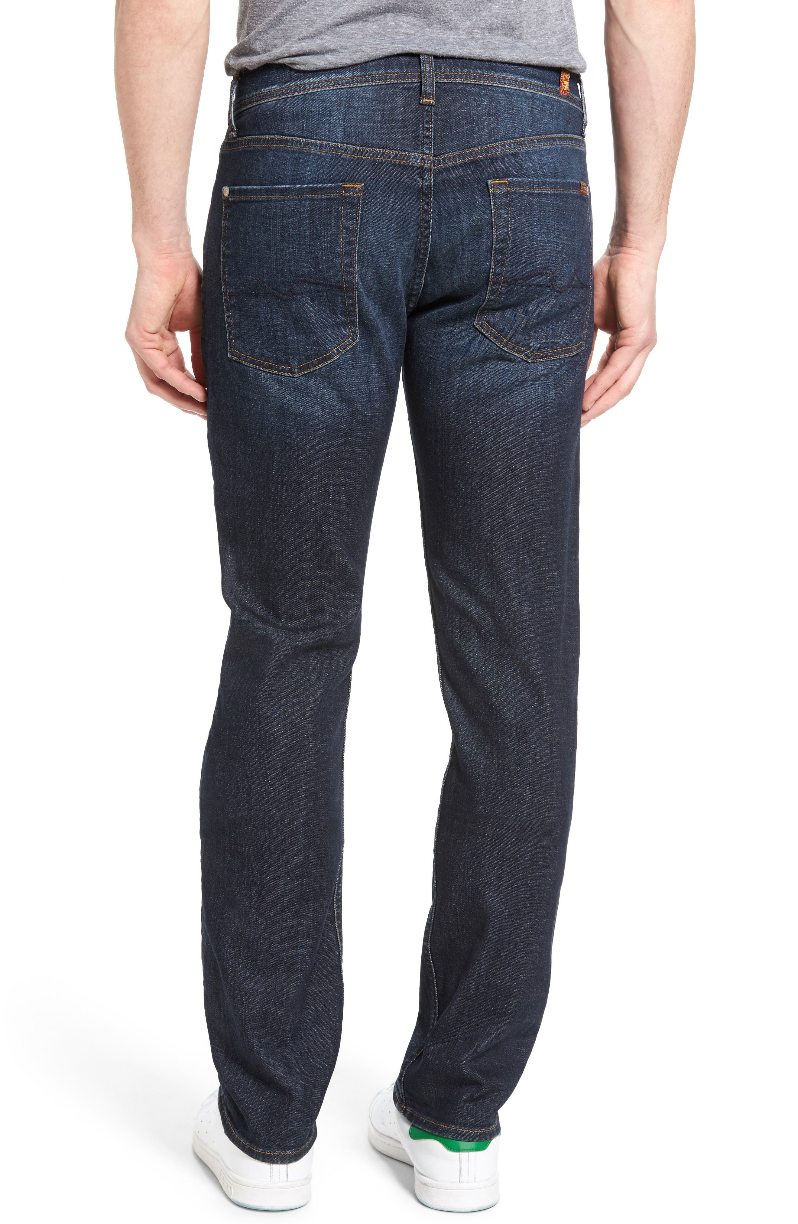 Standard Straight Fit Jeans,                             Alternate thumbnail 2, color,                             Foster