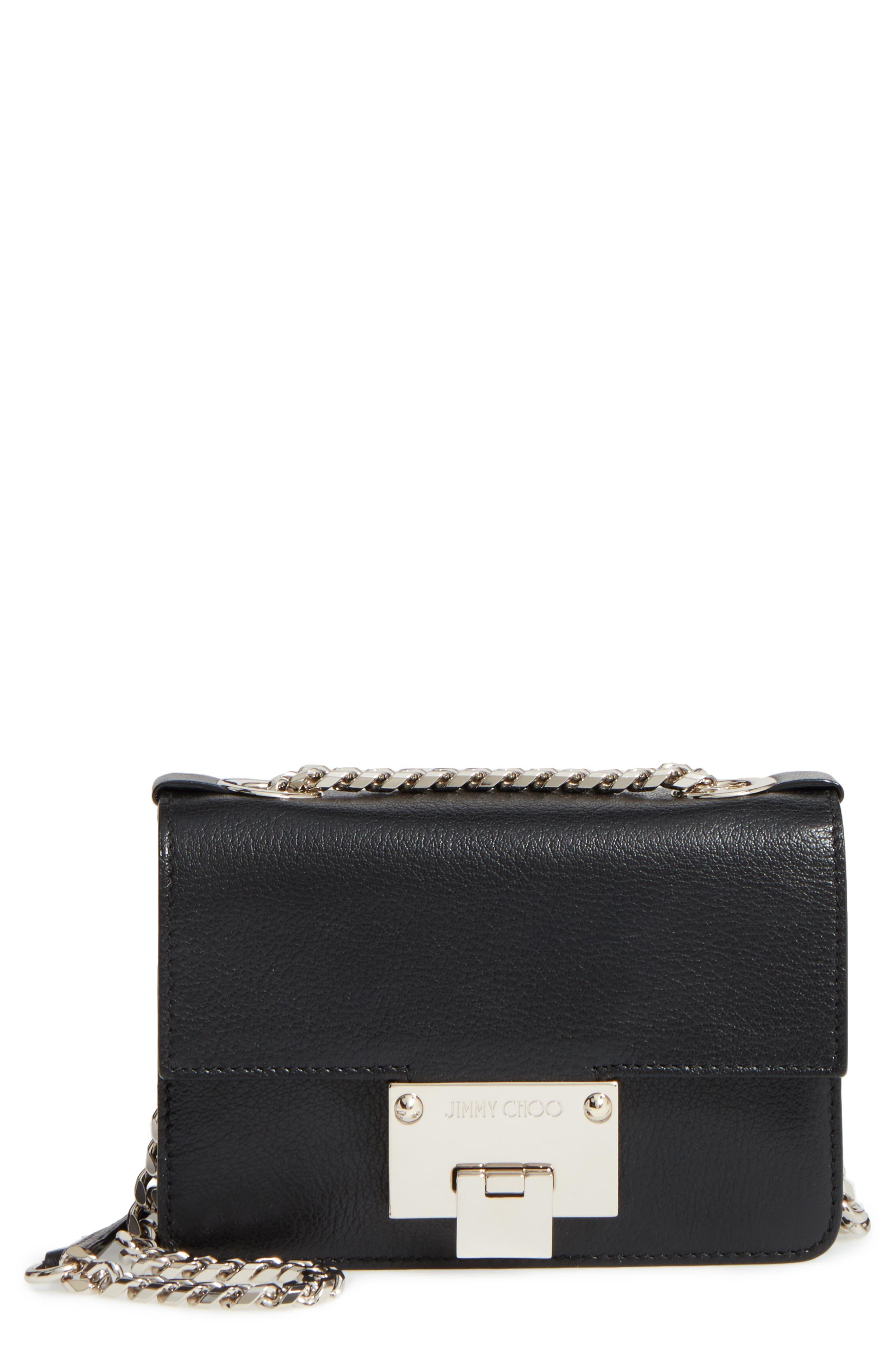 JIMMY CHOO Mini Rebel Leather Crossbody Bag
