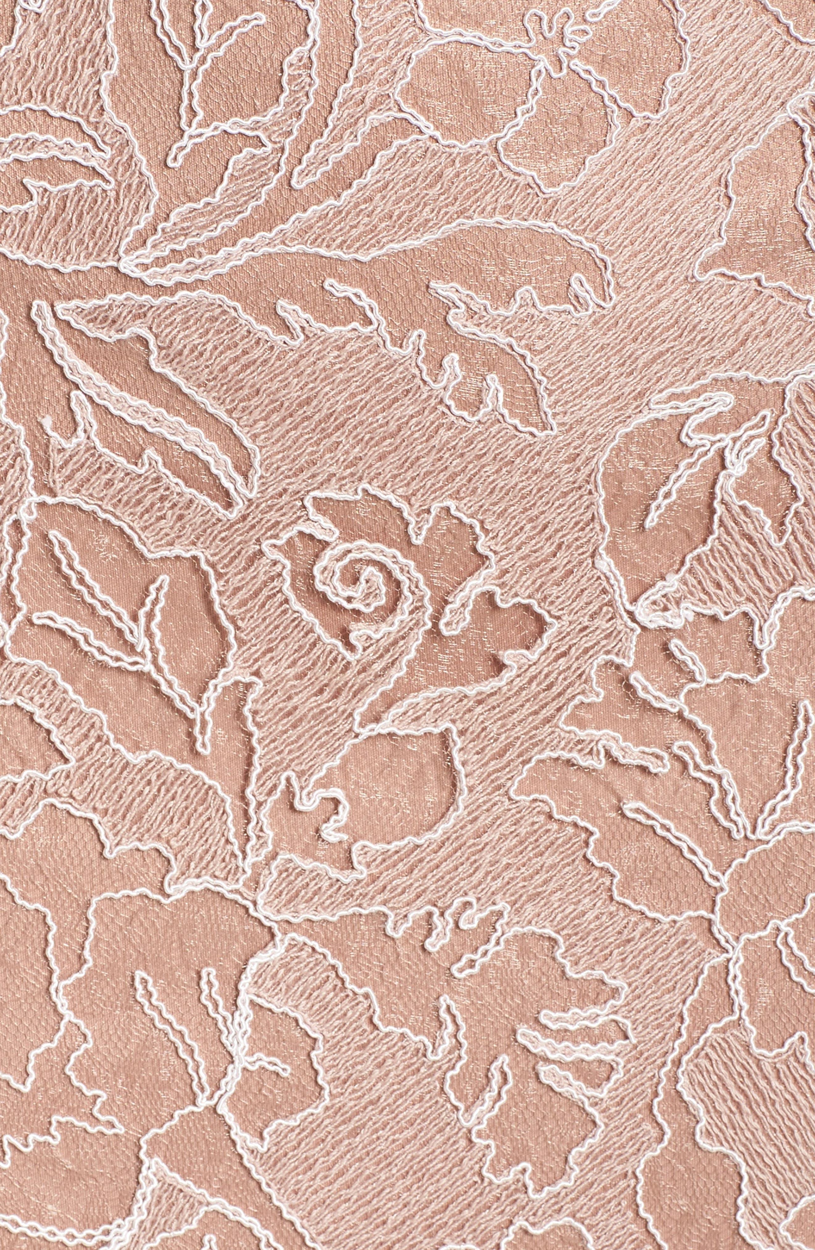 Alternate Image 5  - Tadashi Shoji Embroidered Lace Gown (Regular & Petite)