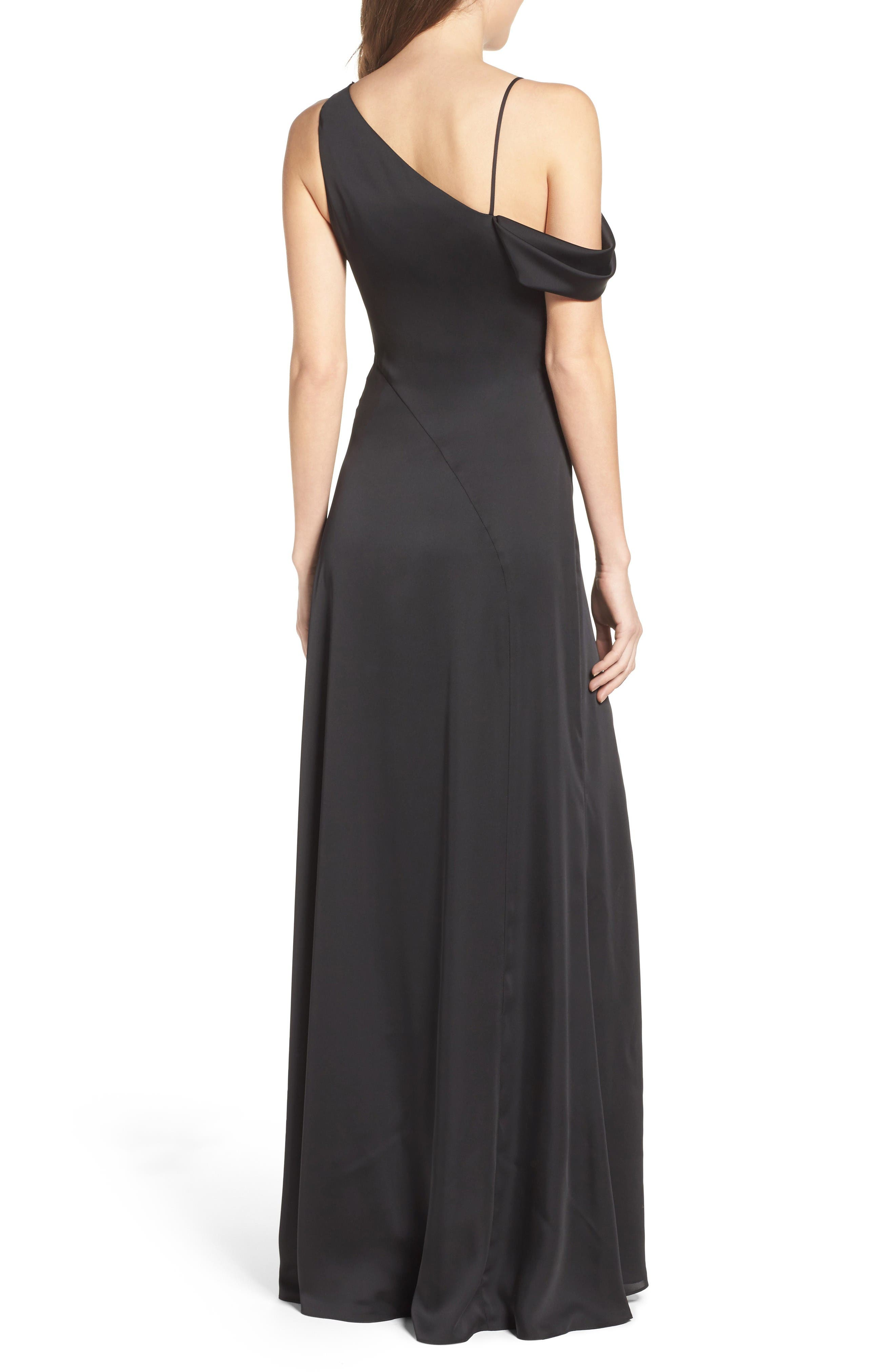 Alternate Image 2  - Jill Jill Stuart One-Shoulder Gown