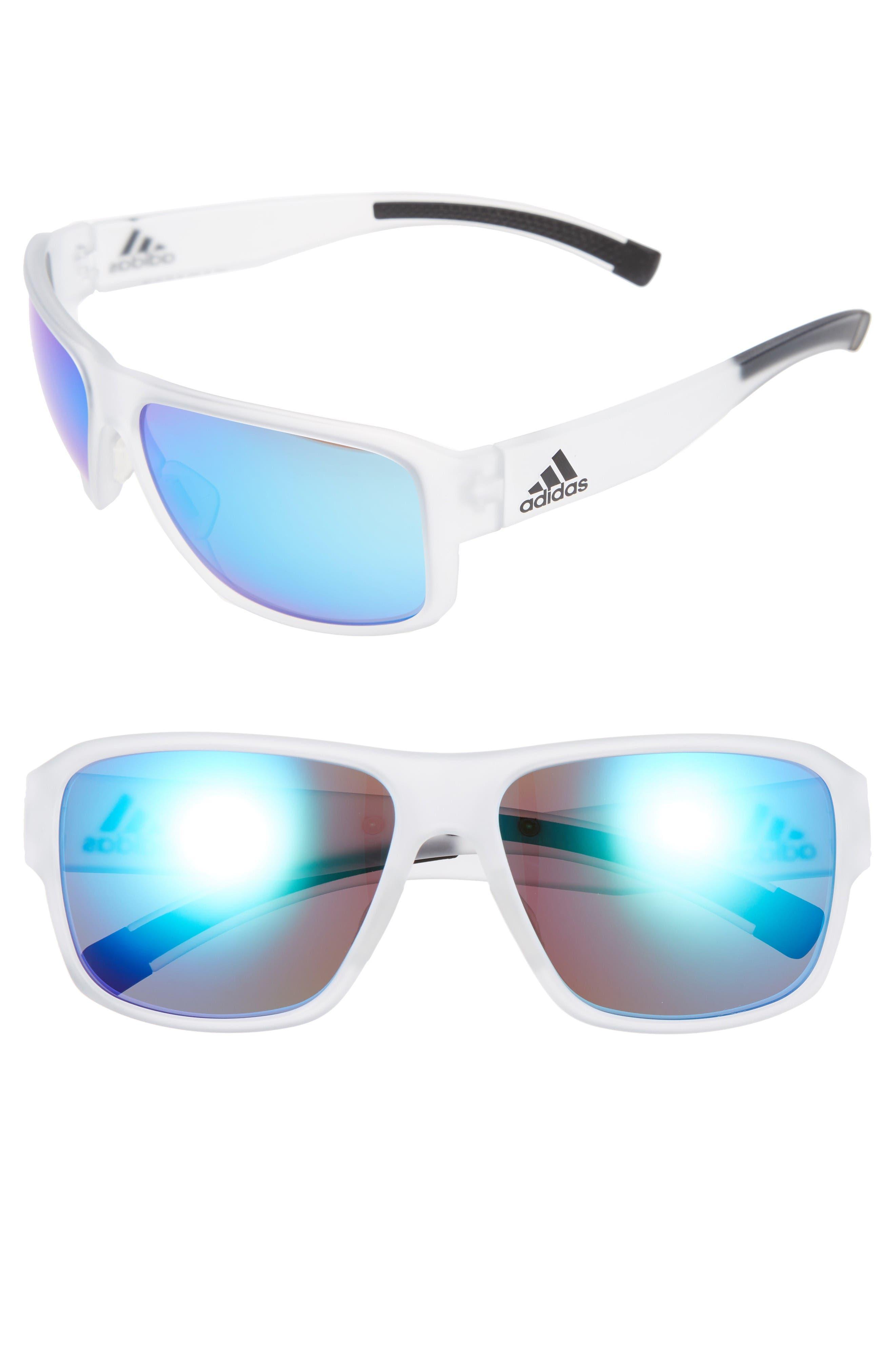 Jaysor 60mm Sunglasses,                         Main,                         color, Crystal Clear/ Blue Mirror