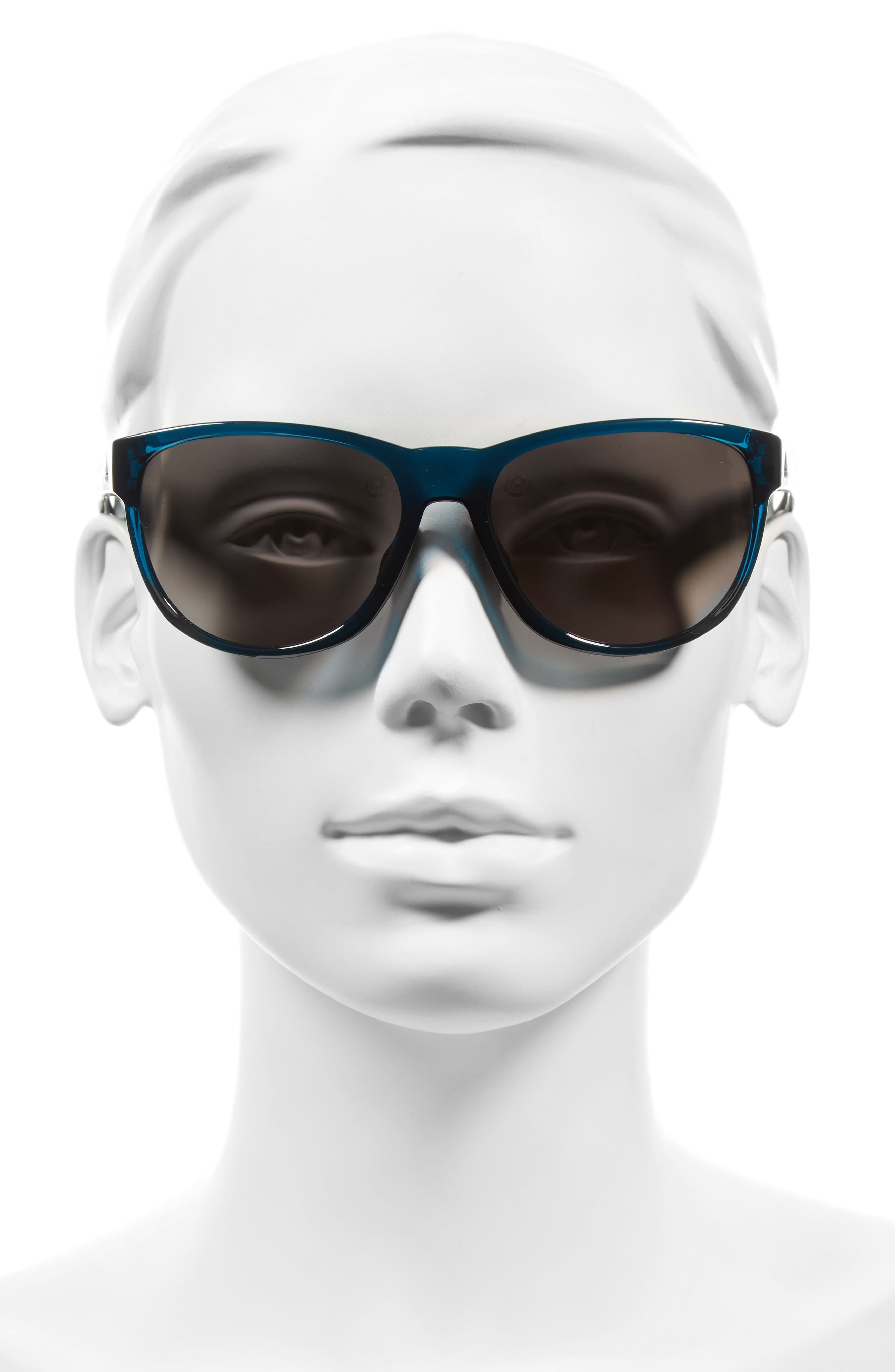 Wildcharge 61mm Mirrored Sunglasses,                             Alternate thumbnail 2, color,                             Grey Blue/ Grey Mirror