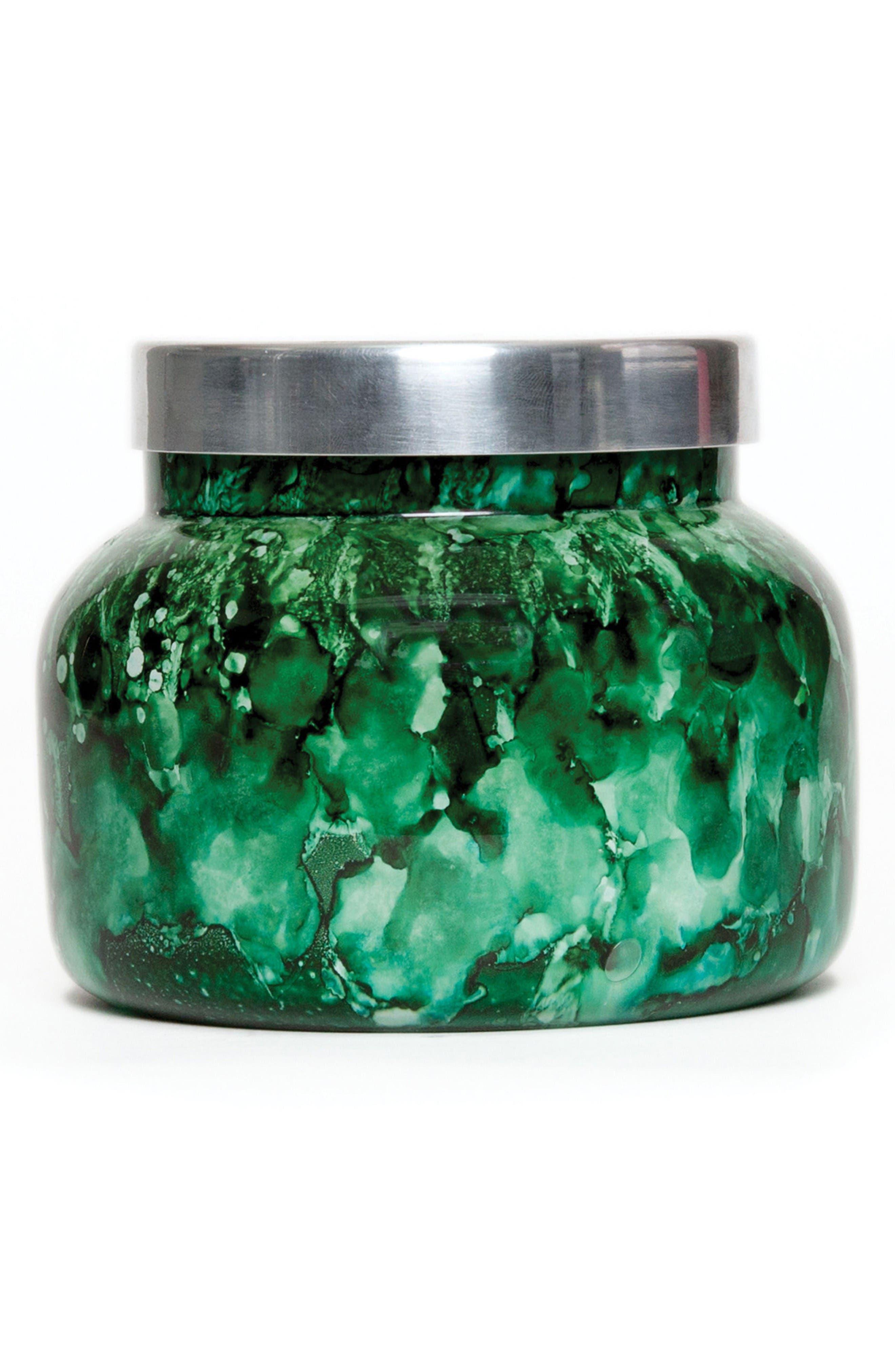 Watercolor Jar Candle,                         Main,                         color, Cactus Flower