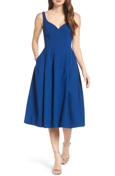 Main Image - Jill Jill Stuart Crepe Midi Dress