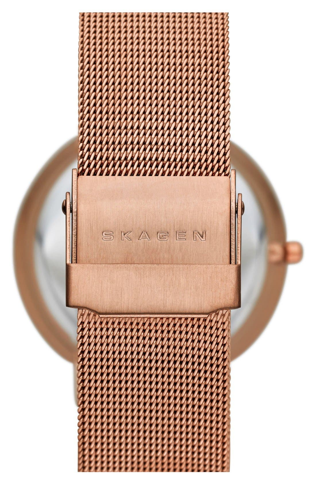 Alternate Image 2  - Skagen 'Leonora' Faceted Glass Bezel Watch, 34mm