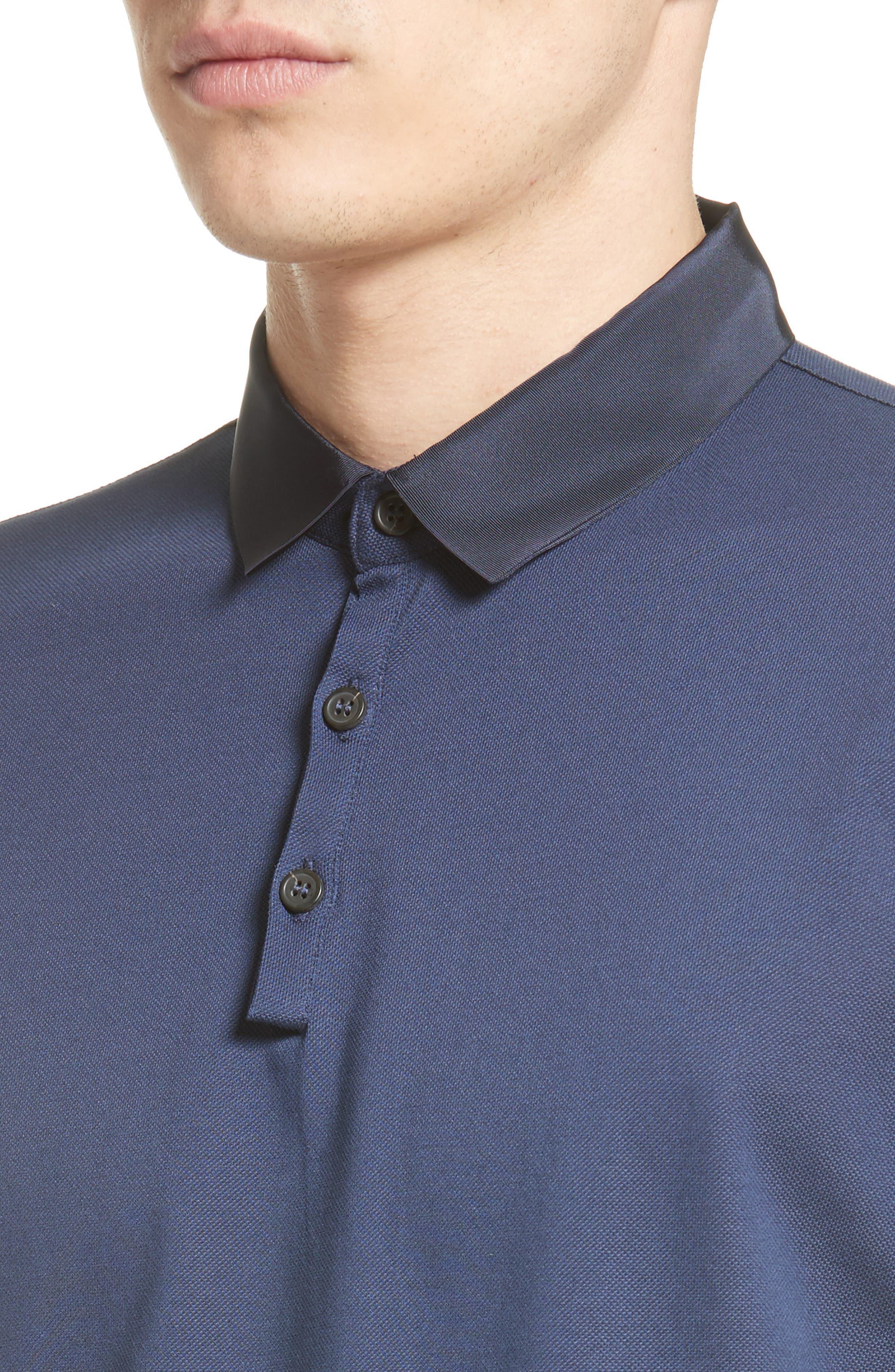 Alternate Image 4  - Lanvin Grosgrain Collar Polo