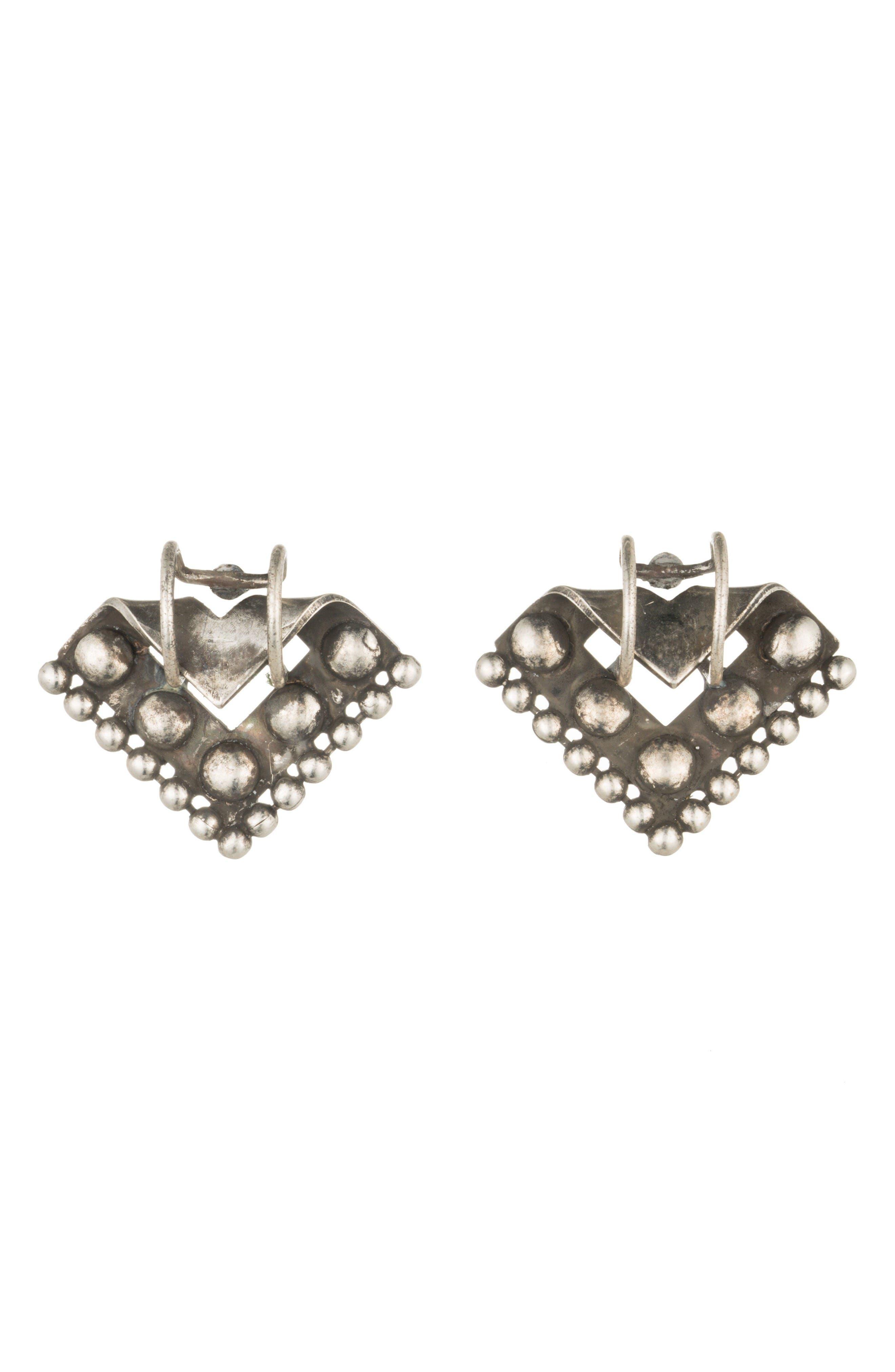 DANNIJO Ecru Stud Earrings