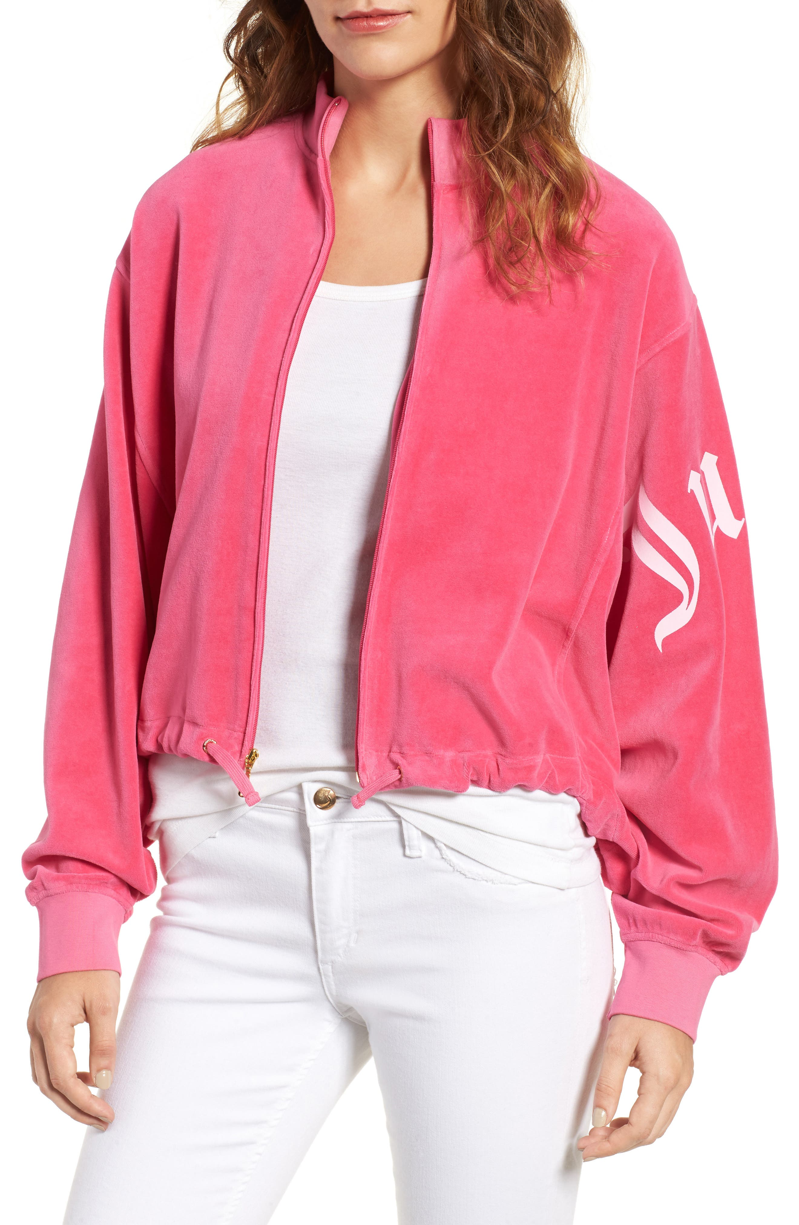 Main Image - Juicy Couture Velour Batwing Track Jacket