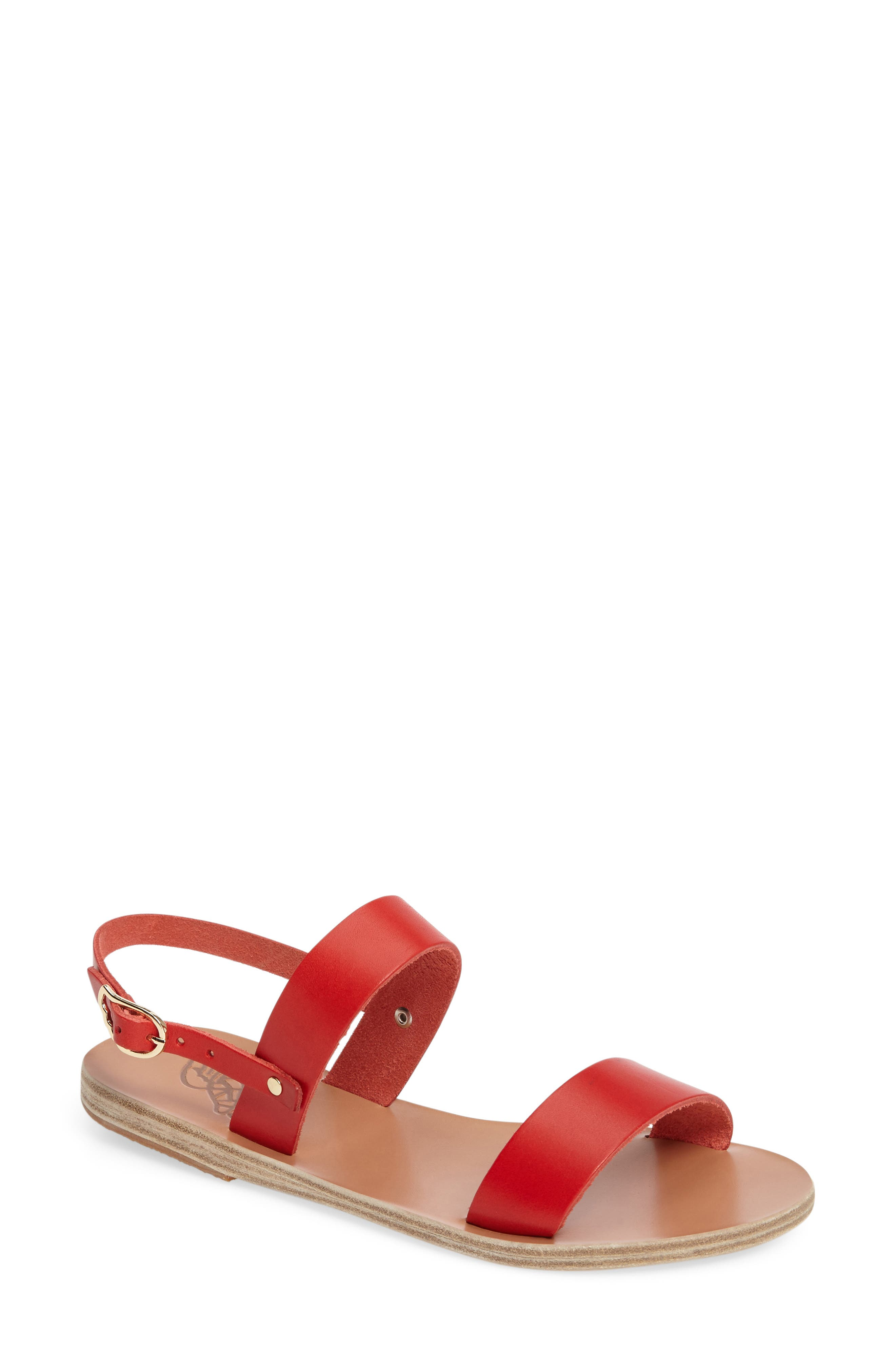 Clio Slingback Sandal,                             Main thumbnail 1, color,                             Red