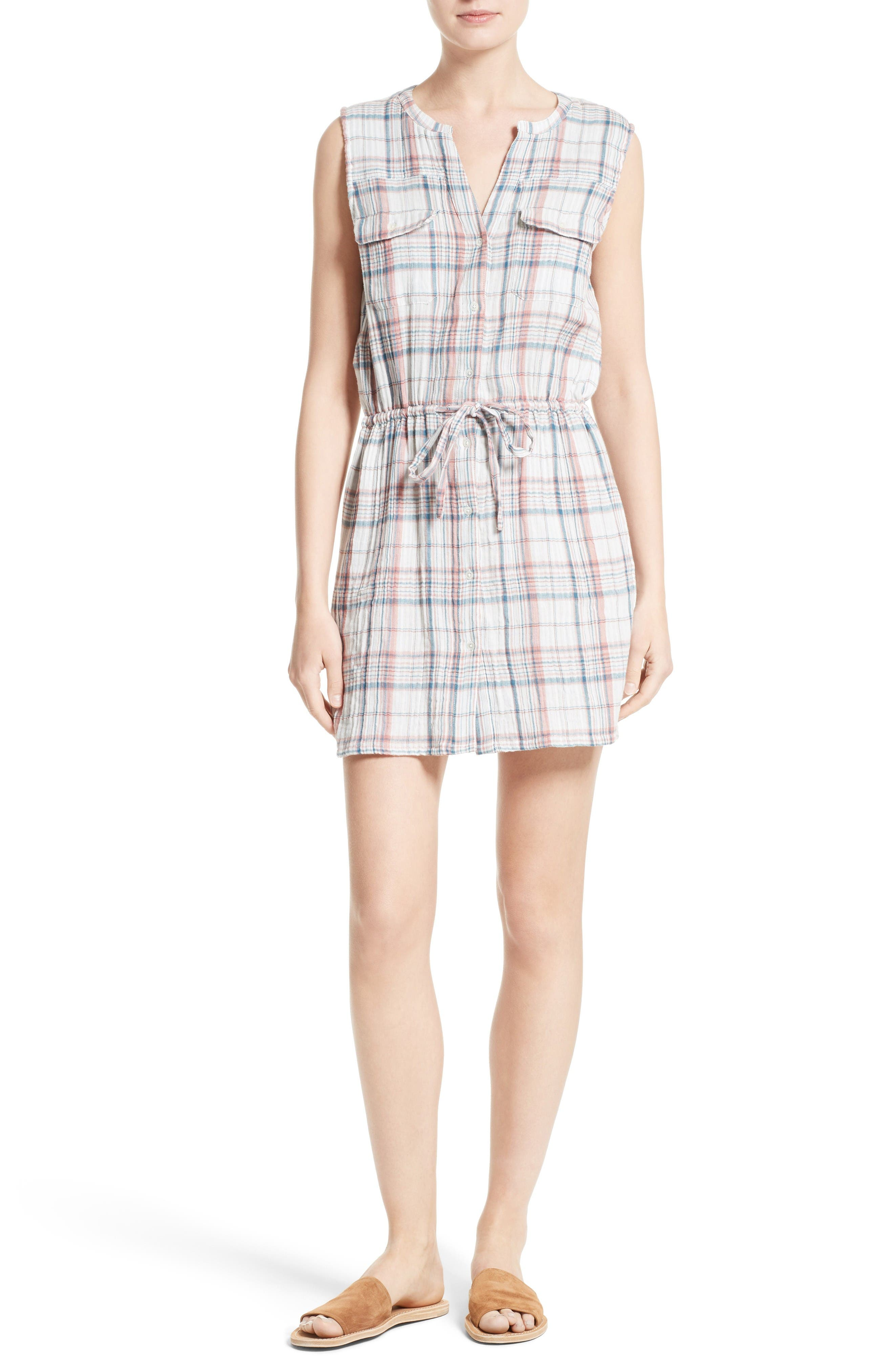 Soft Joie Tawna Plaid Shirtdress