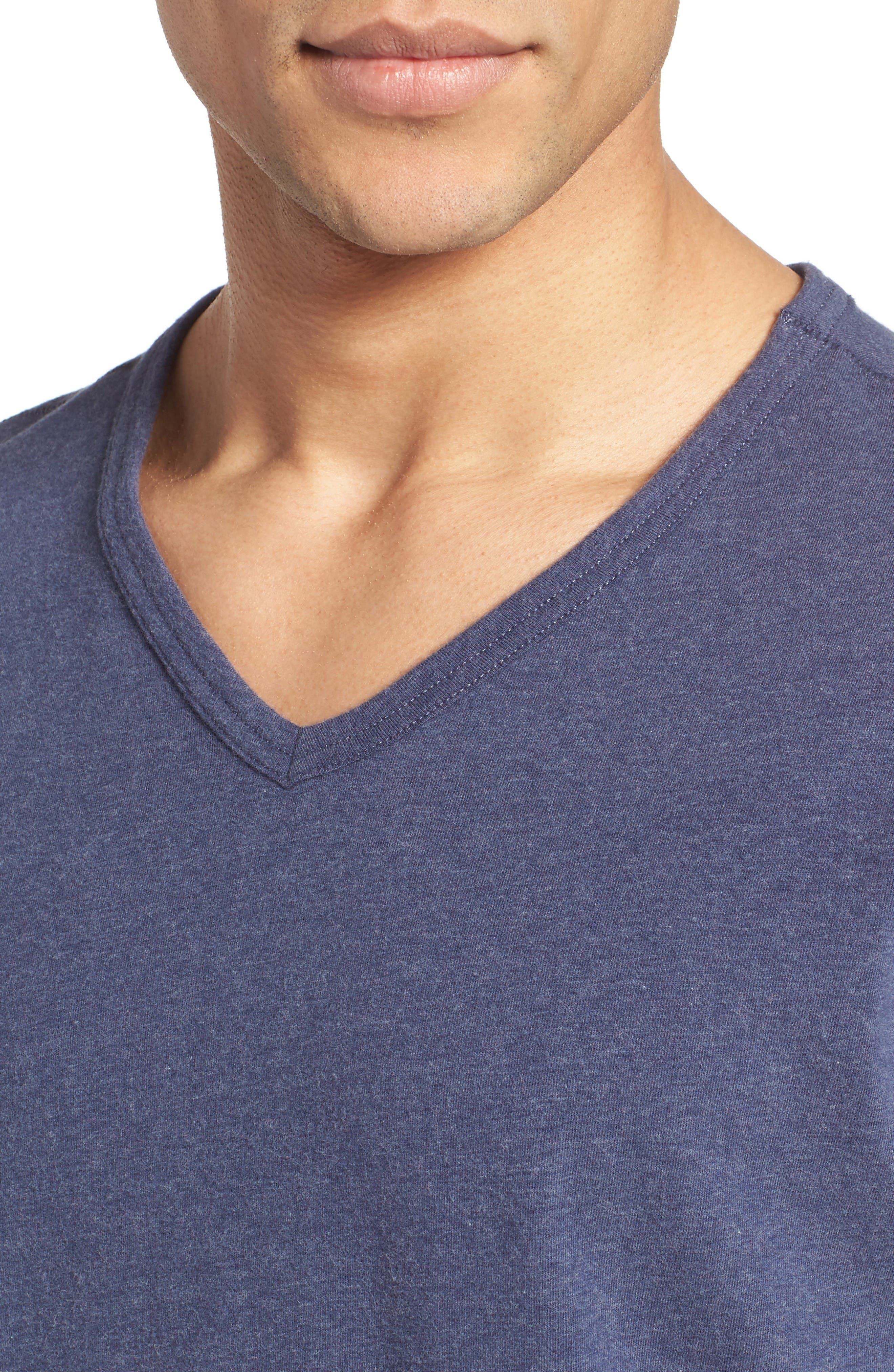 Alternate Image 4  - Nordstrom Men's Shop Stretch Cotton V-Neck T-Shirt