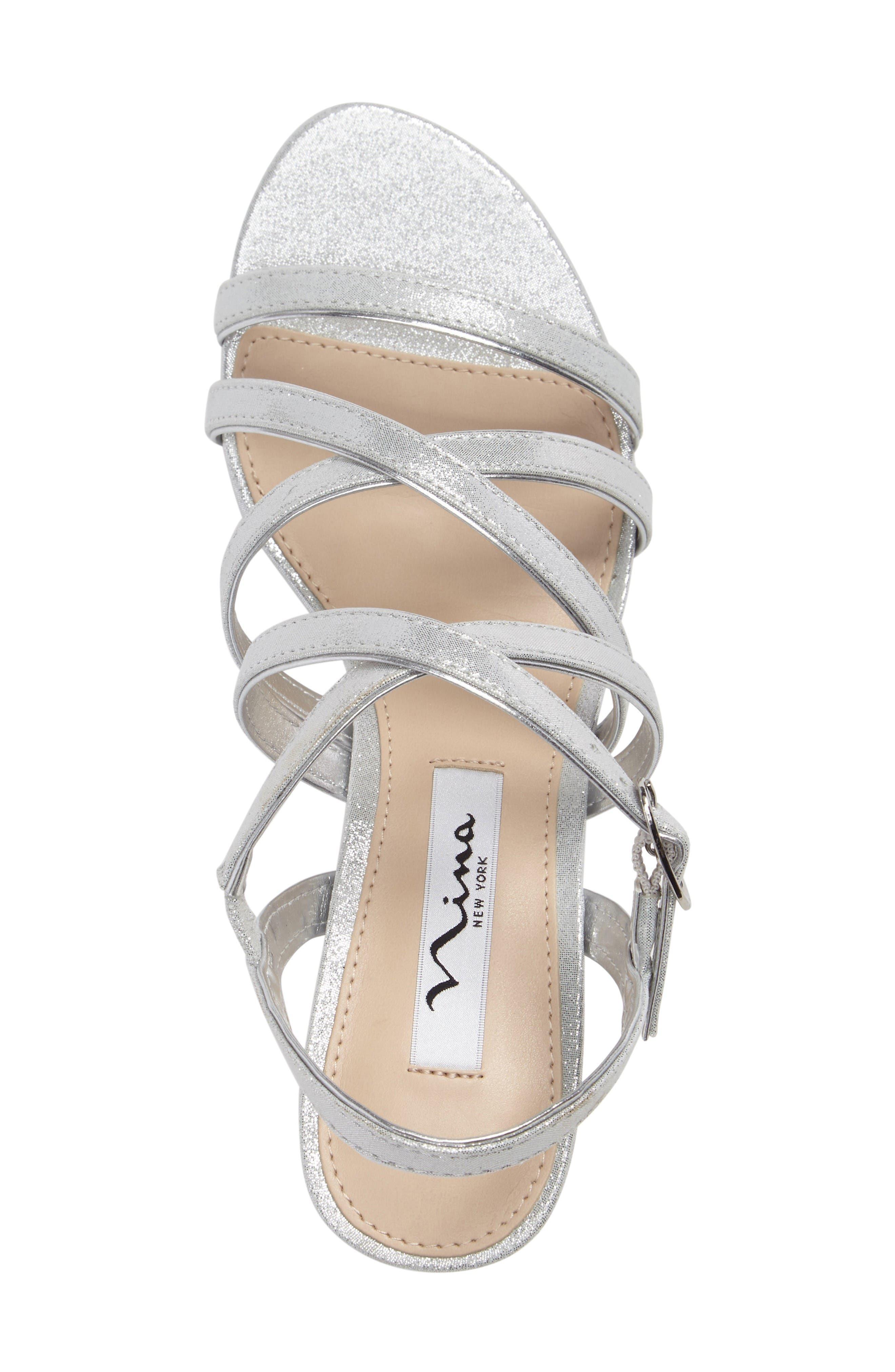 Alternate Image 3  - Nina Genaya Strappy Evening Sandal (Women)
