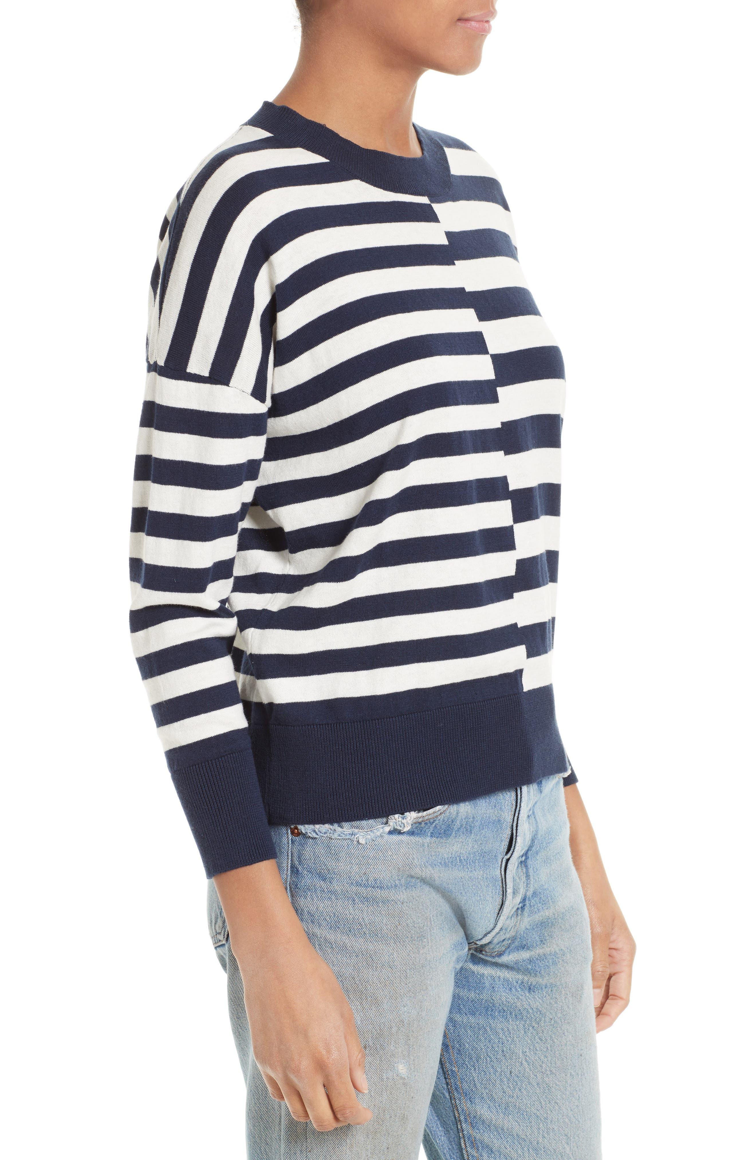 Alternate Image 3  - Equipment Melanie Stripe Cotton & Silk Sweater
