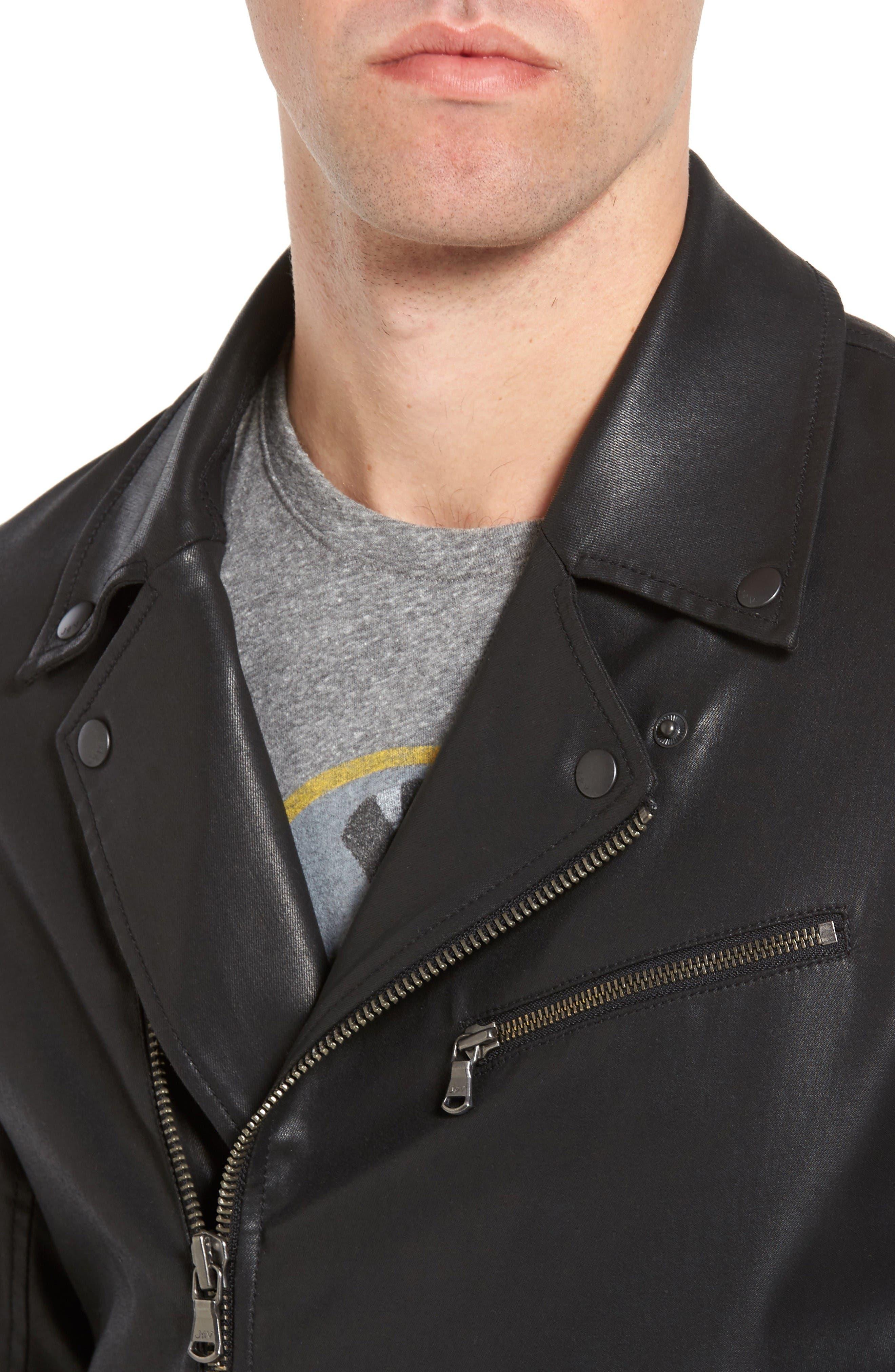 Alternate Image 4  - John Varvatos Star USA Coated Moto Jacket
