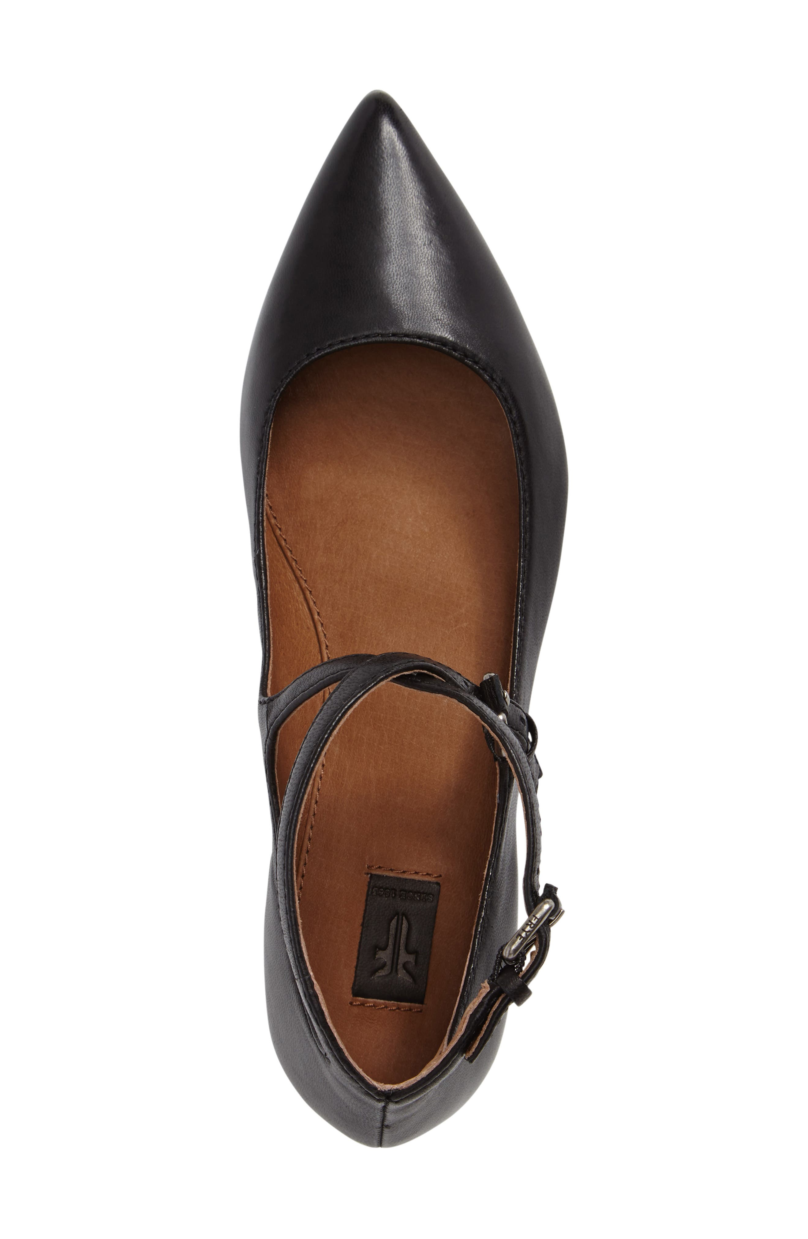 Sienna Cross Ballet Flat,                             Alternate thumbnail 3, color,                             Black