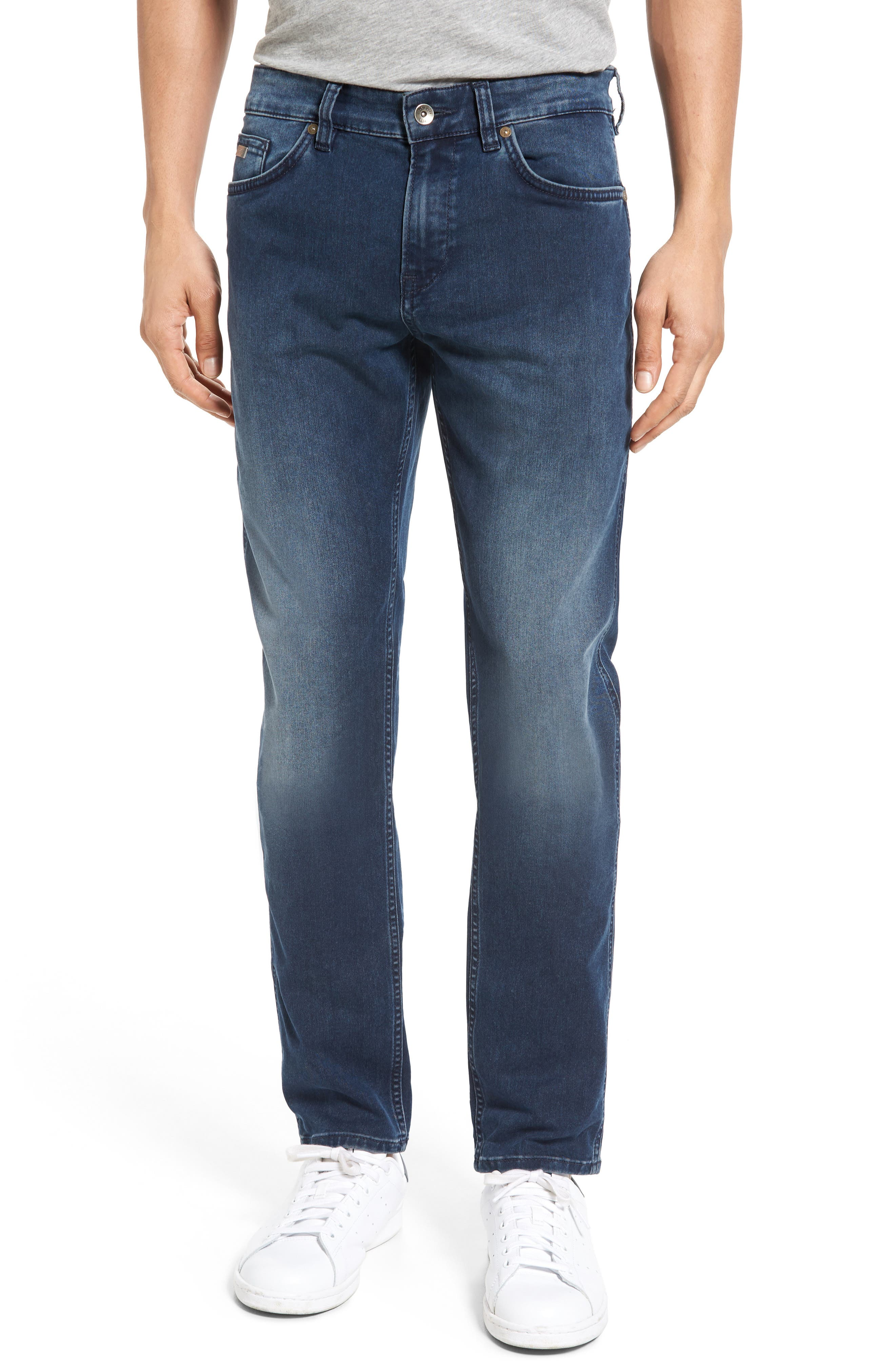 Delaware Slim Fit Jeans,                             Main thumbnail 1, color,                             Navy