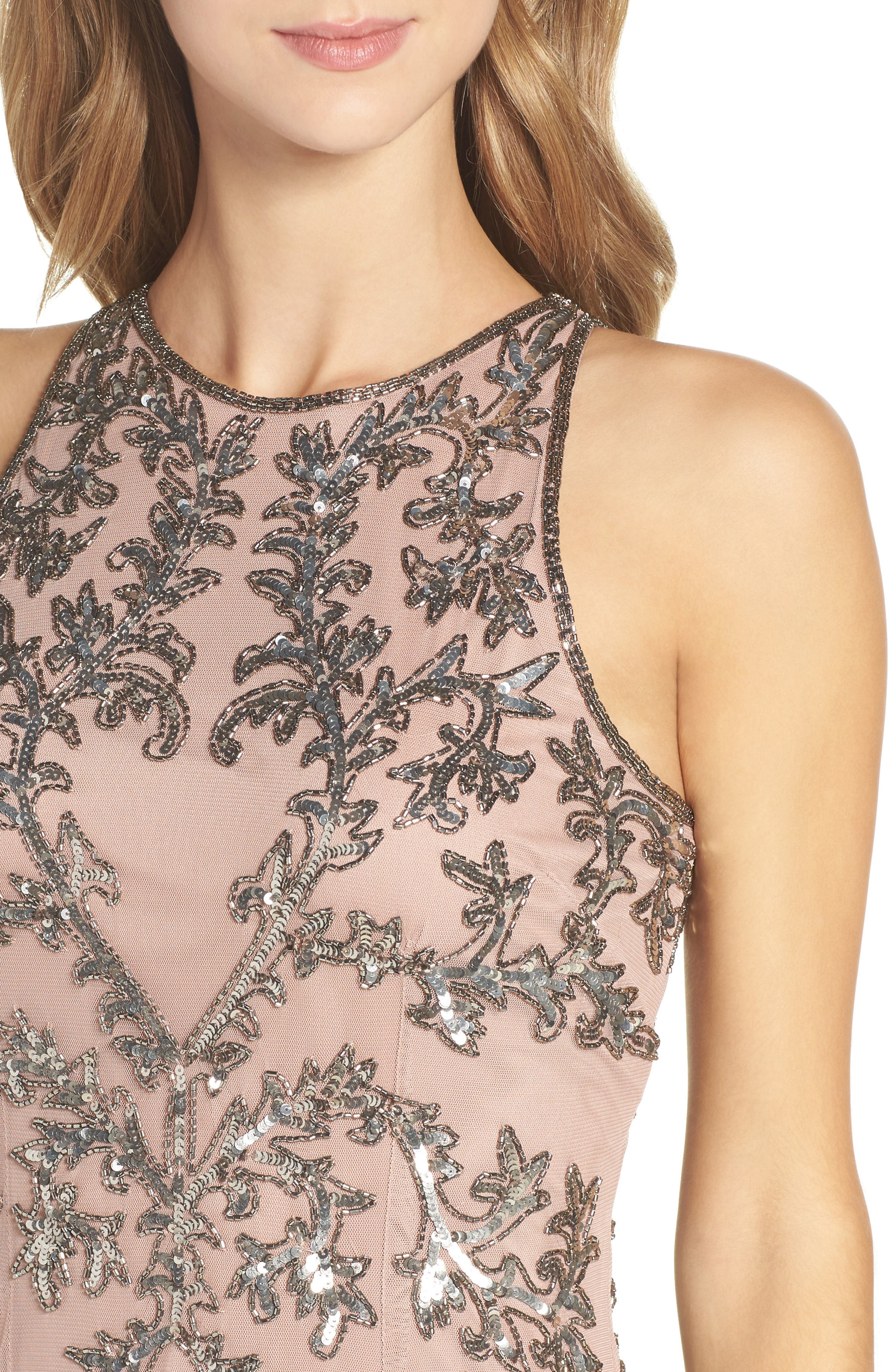 Alternate Image 5  - Adrianna Papell Embellished Chiffon Sheath Dress