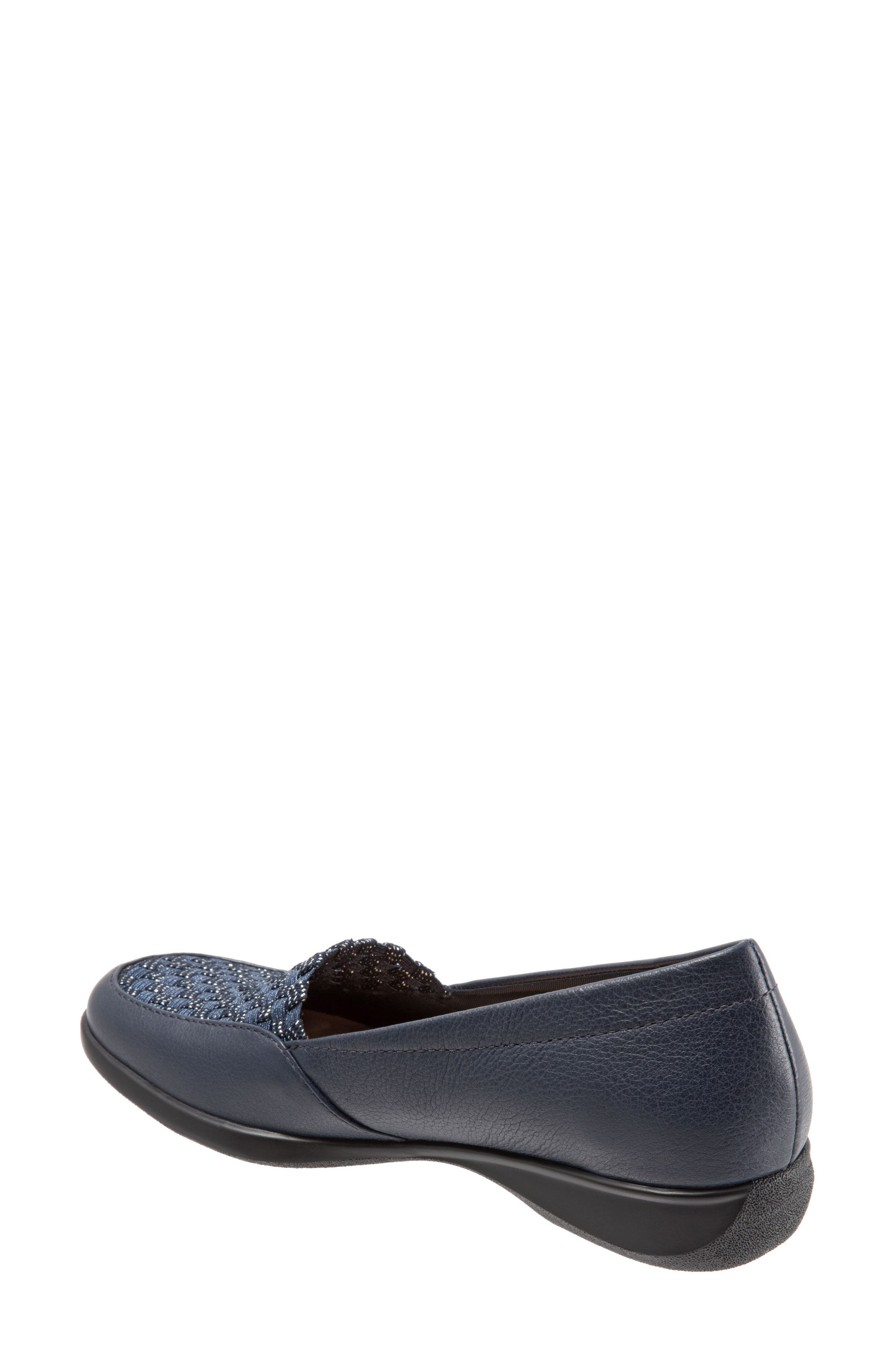 Jenkins Loafer Flat,                             Alternate thumbnail 2, color,                             Navy Leather