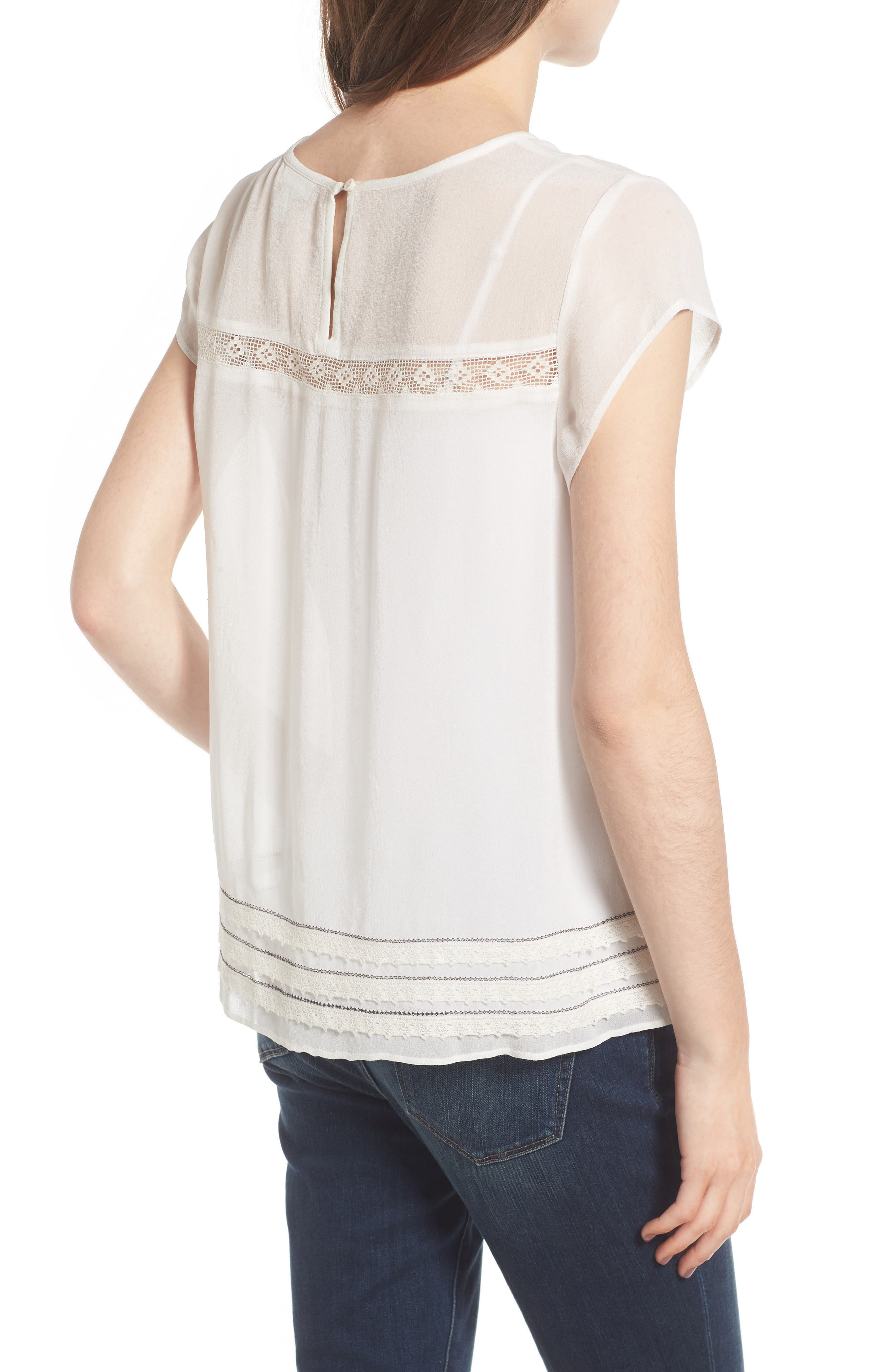 Alternate Image 3  - Hinge Embroidered Lace Yoke Top