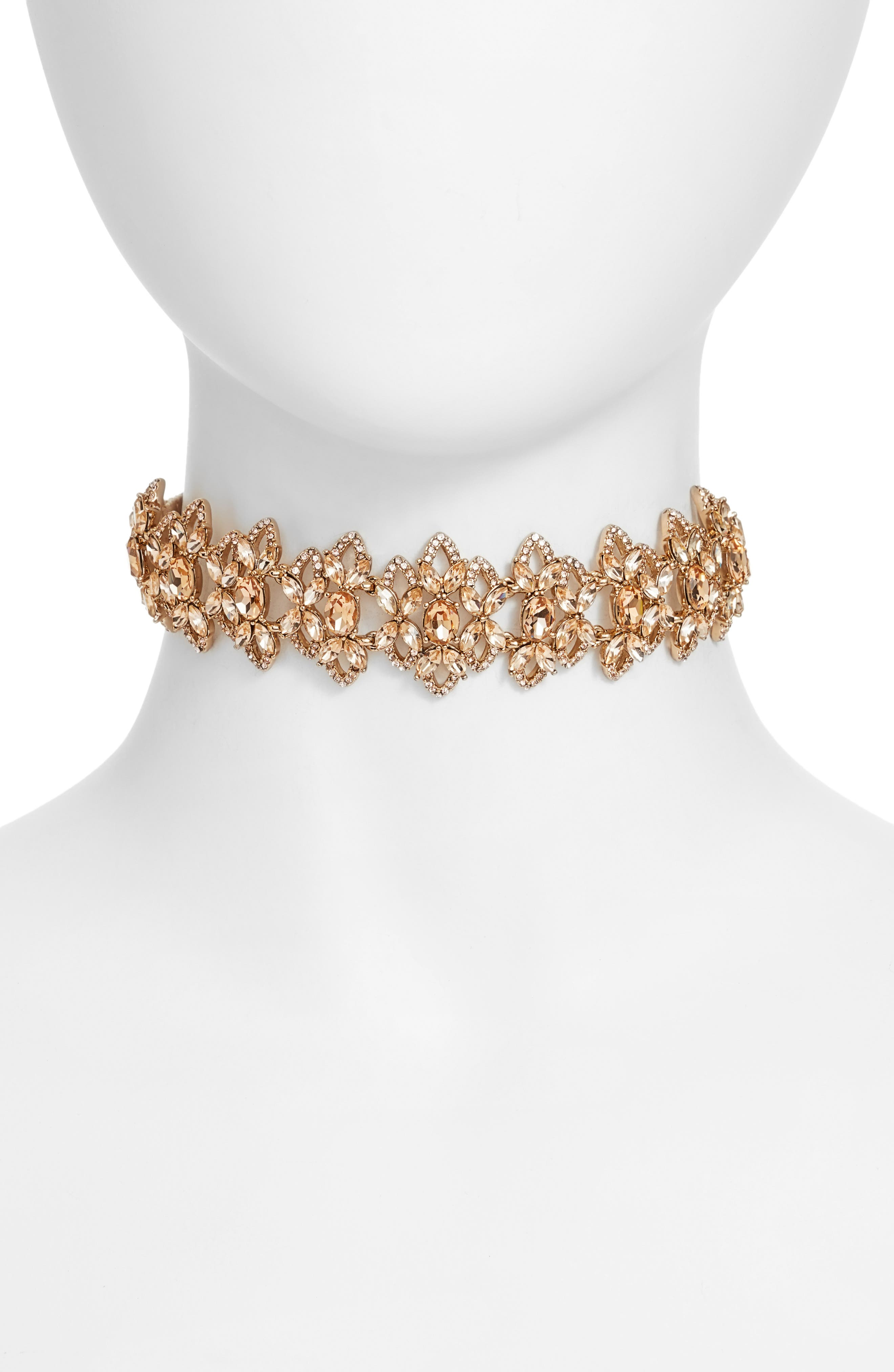 4-Way Convertible Necklace,                         Main,                         color, Champagne / Gold