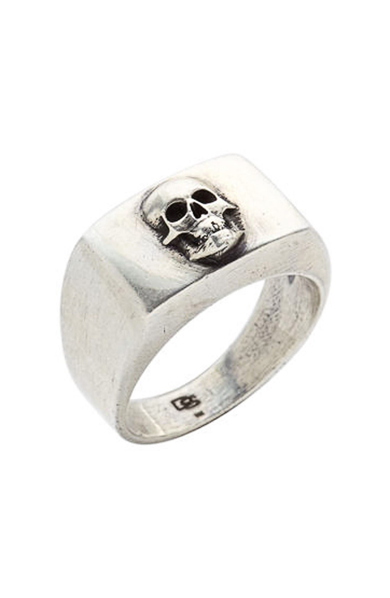 Skull Ring,                         Main,                         color, Silver