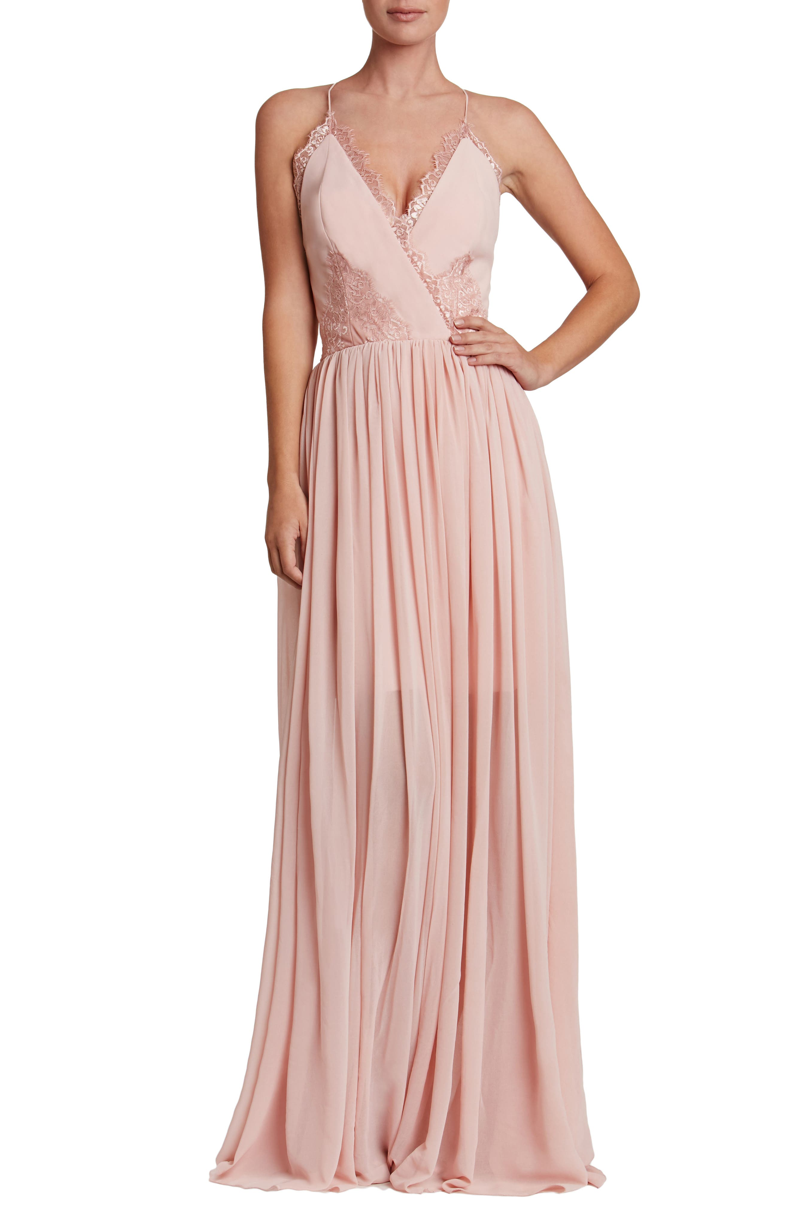 Dress the Population Chloe Lace & Chiffon Gown