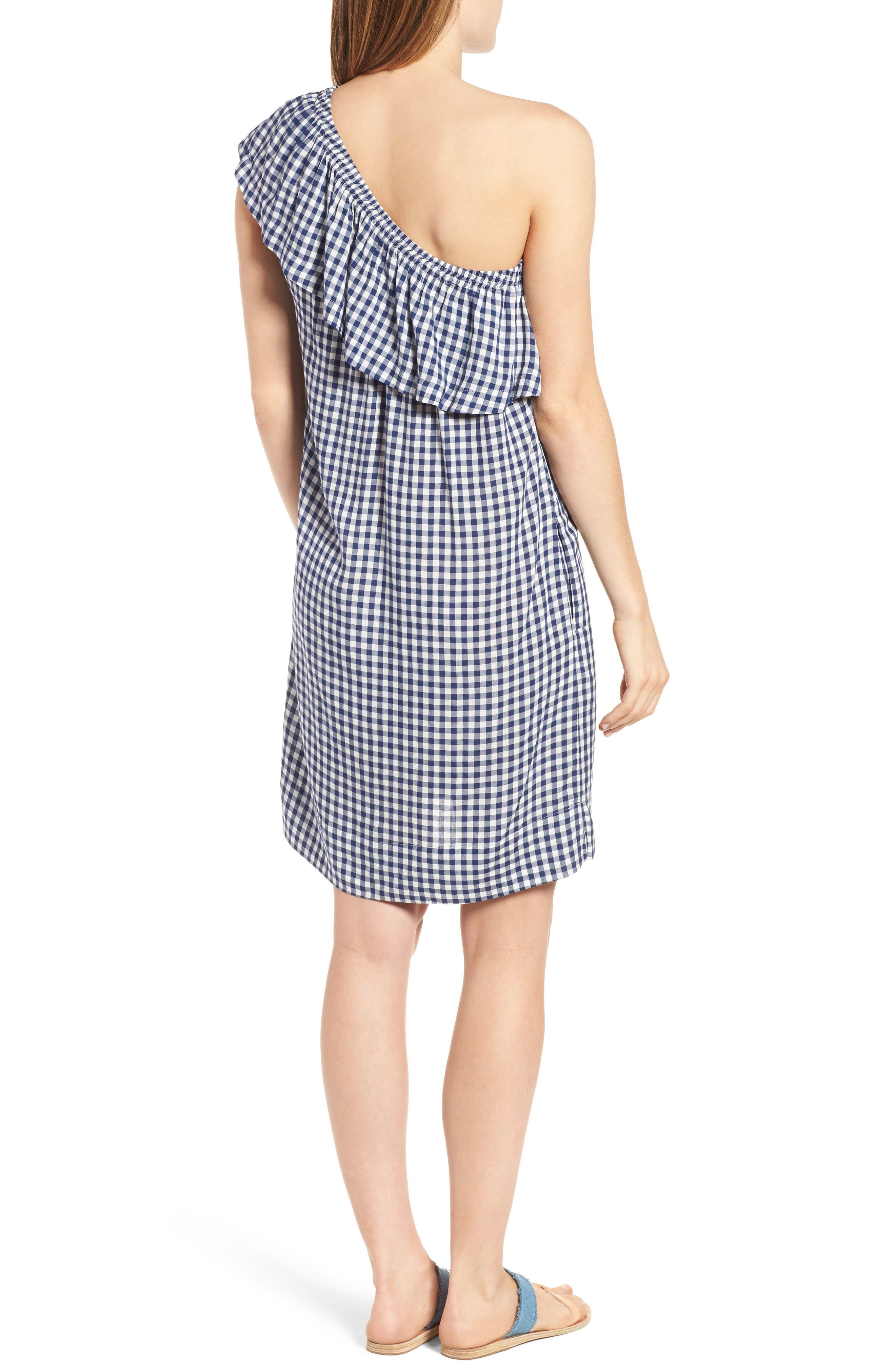 Alternate Image 3  - Velvet by Graham & Spencer One-Shoulder Check Dress