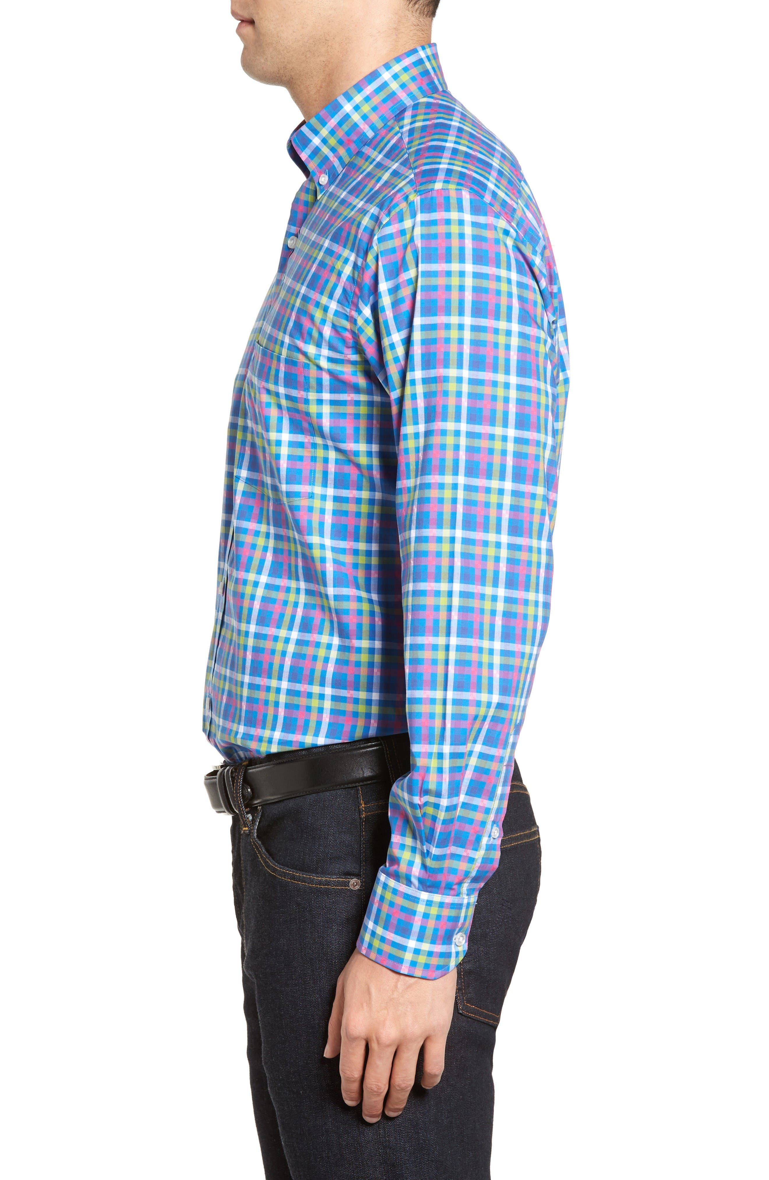 Alternate Image 3  - TailorByrd Plum Check Sport Shirt