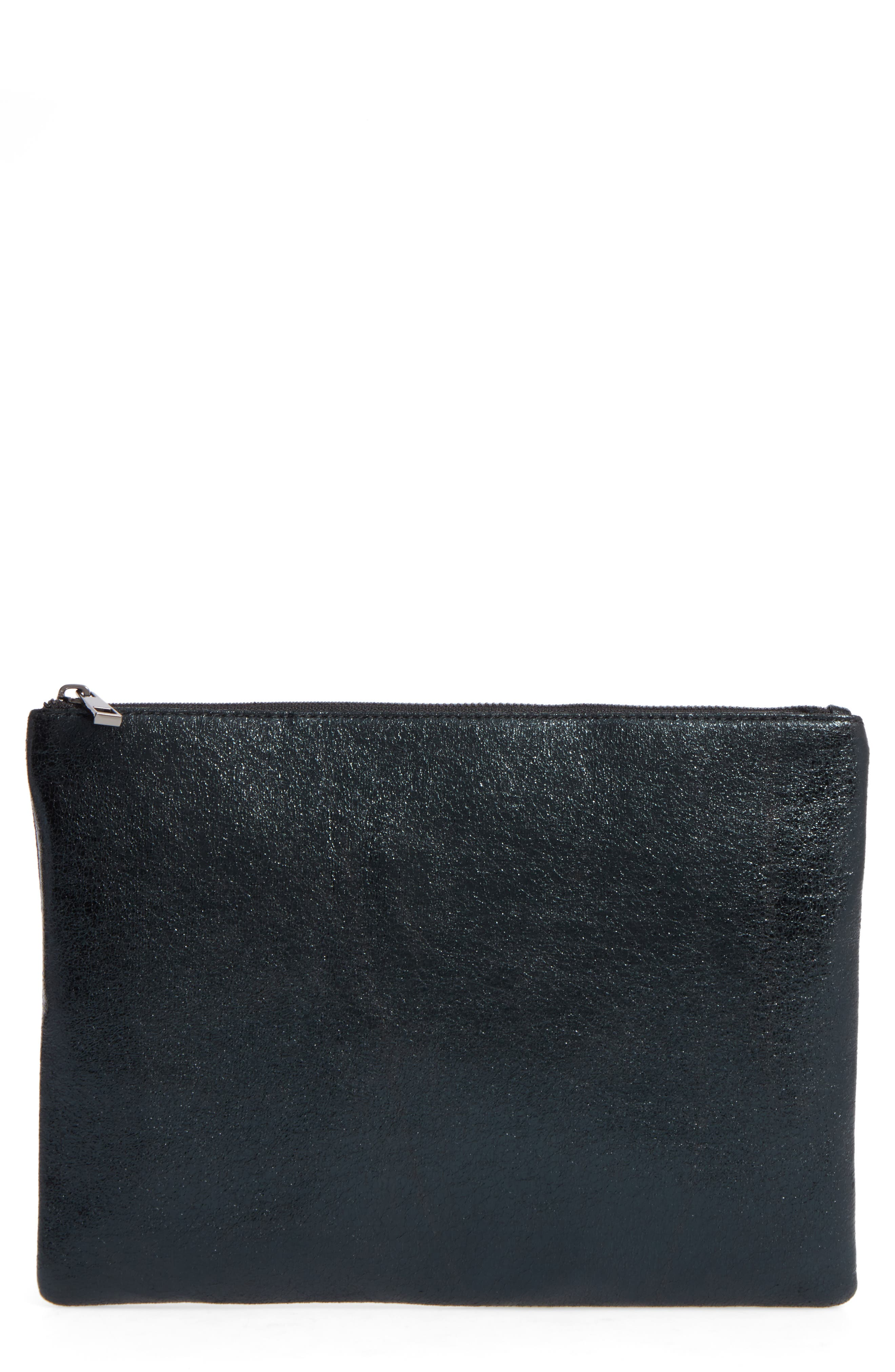 Main Image - BP. Faux Leather Large Zip Pouch