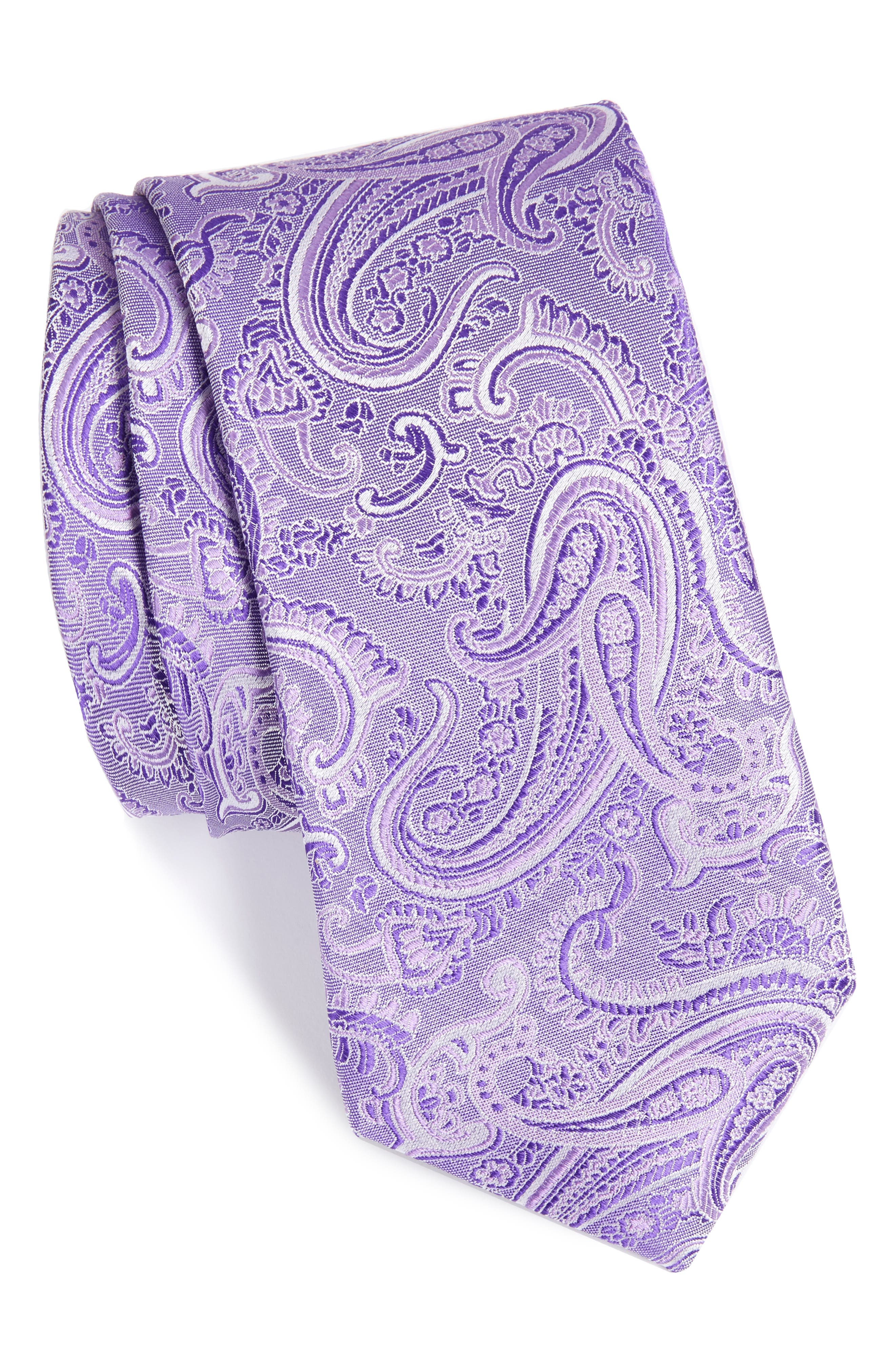 CALIBRATE Floating Paisley Silk Tie