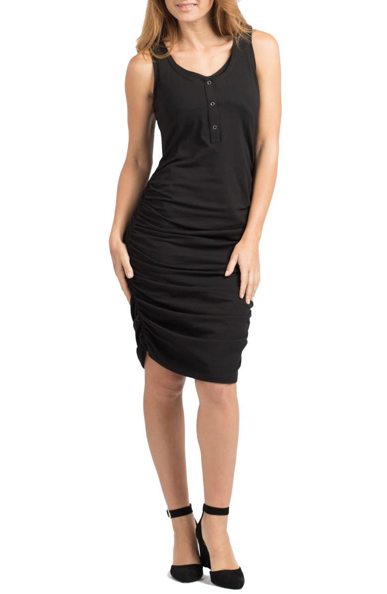 Berkeley Snap Maternity/Nursing Midi Dress