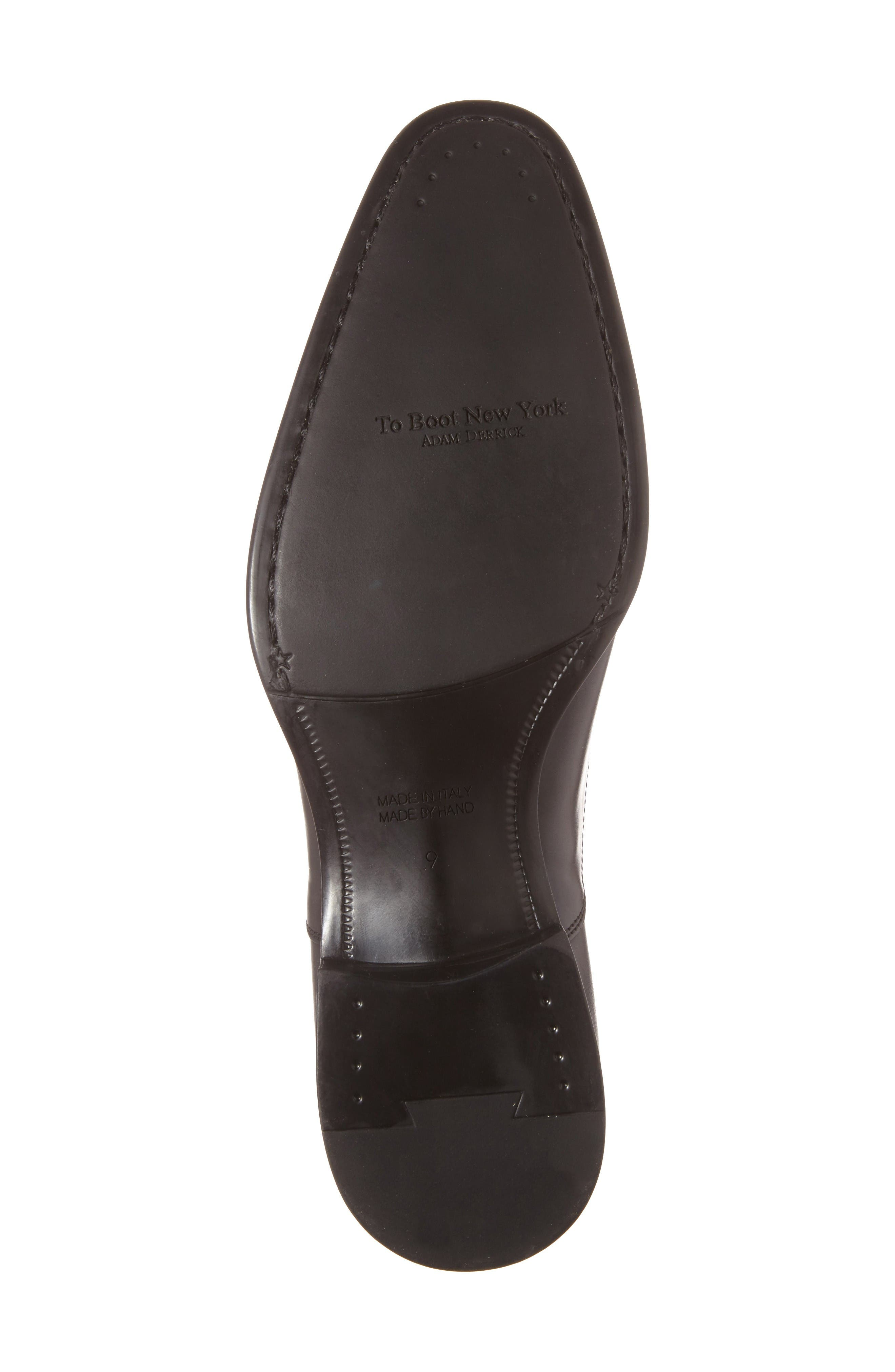 'Justin' Cap Toe Oxford,                             Alternate thumbnail 4, color,                             Black Leather