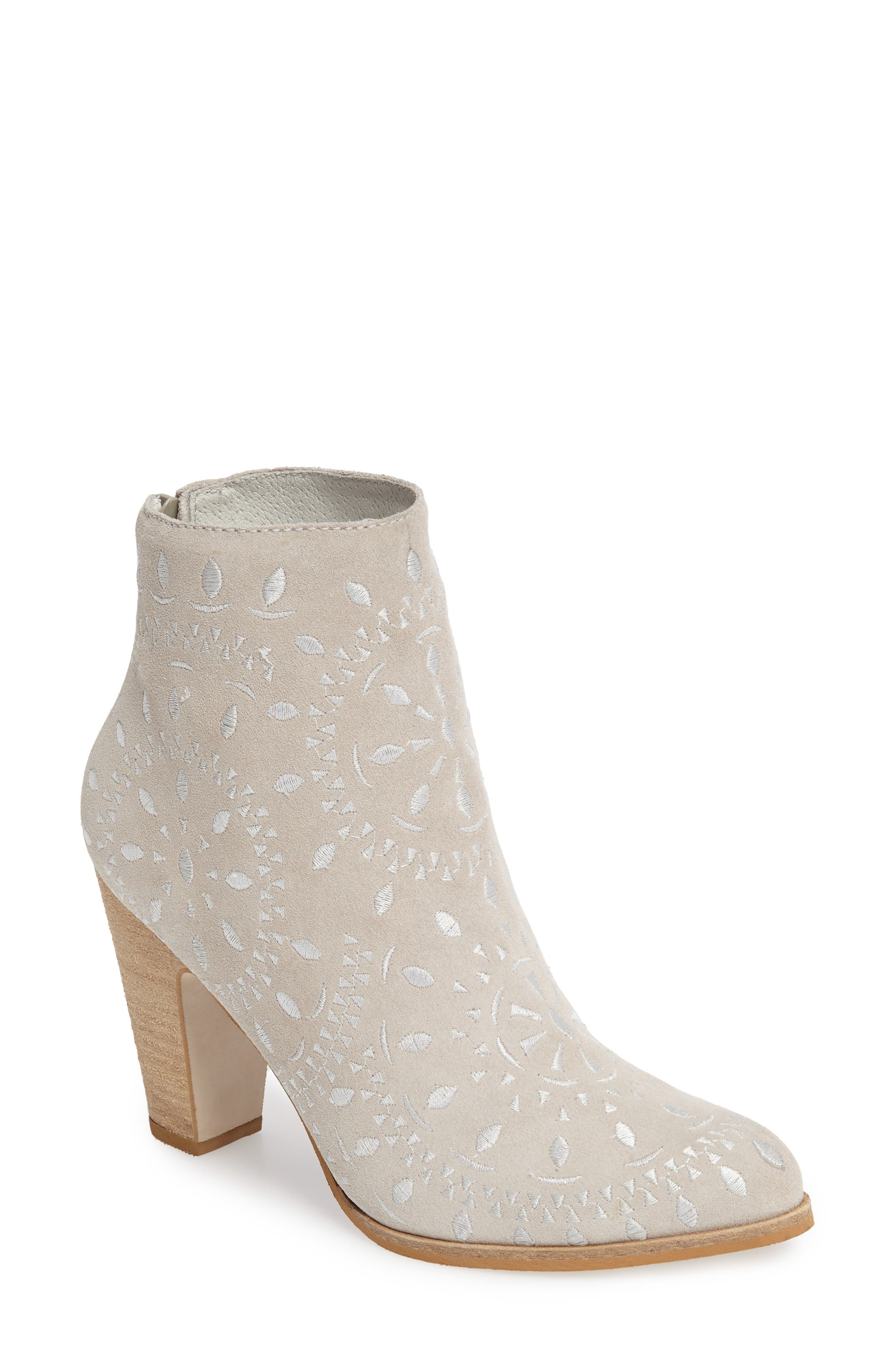 Springfield Bootie,                         Main,                         color, Ivory Suede