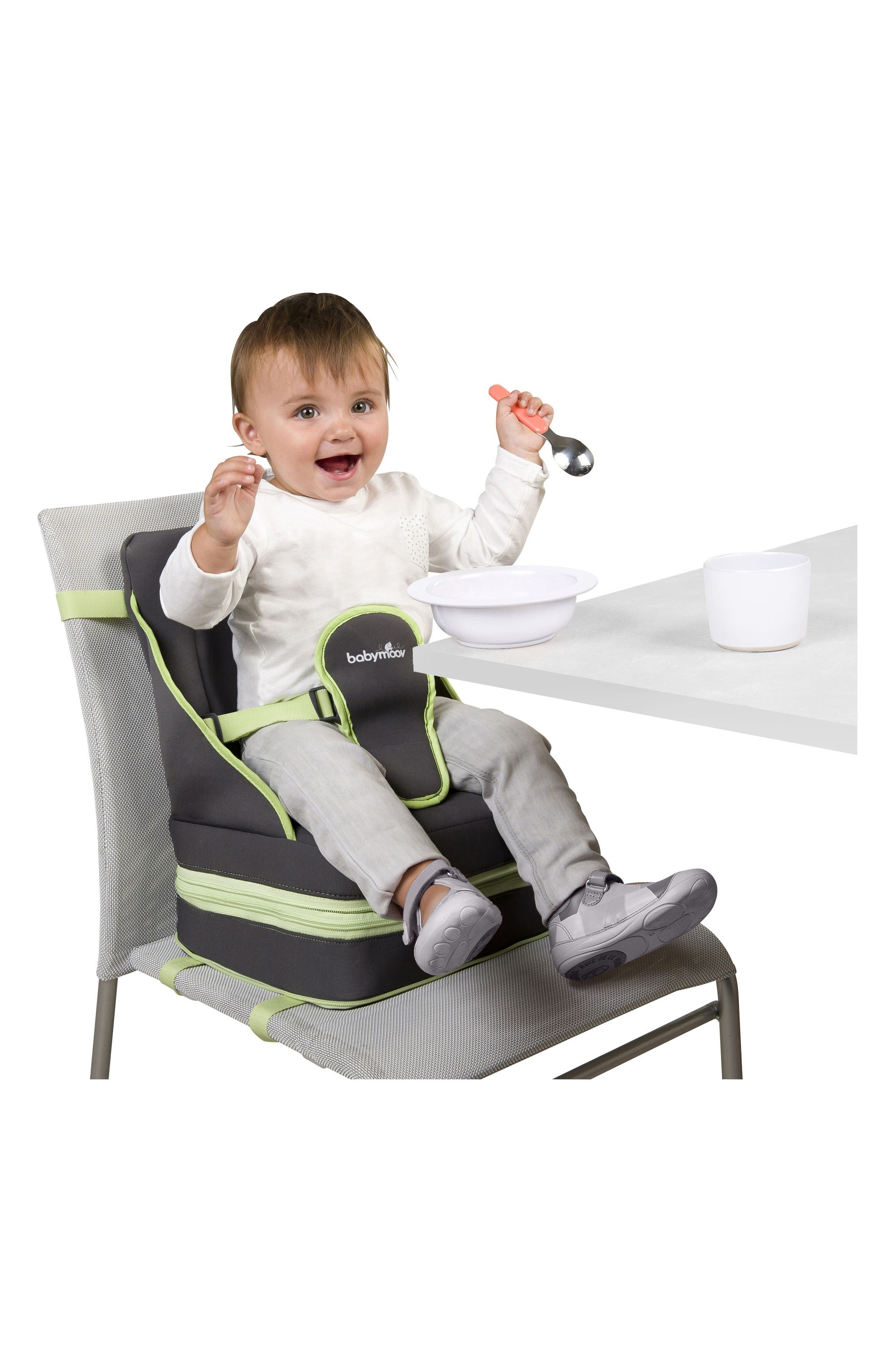 Up & Go Booster Seat,                             Alternate thumbnail 4, color,                             Grey