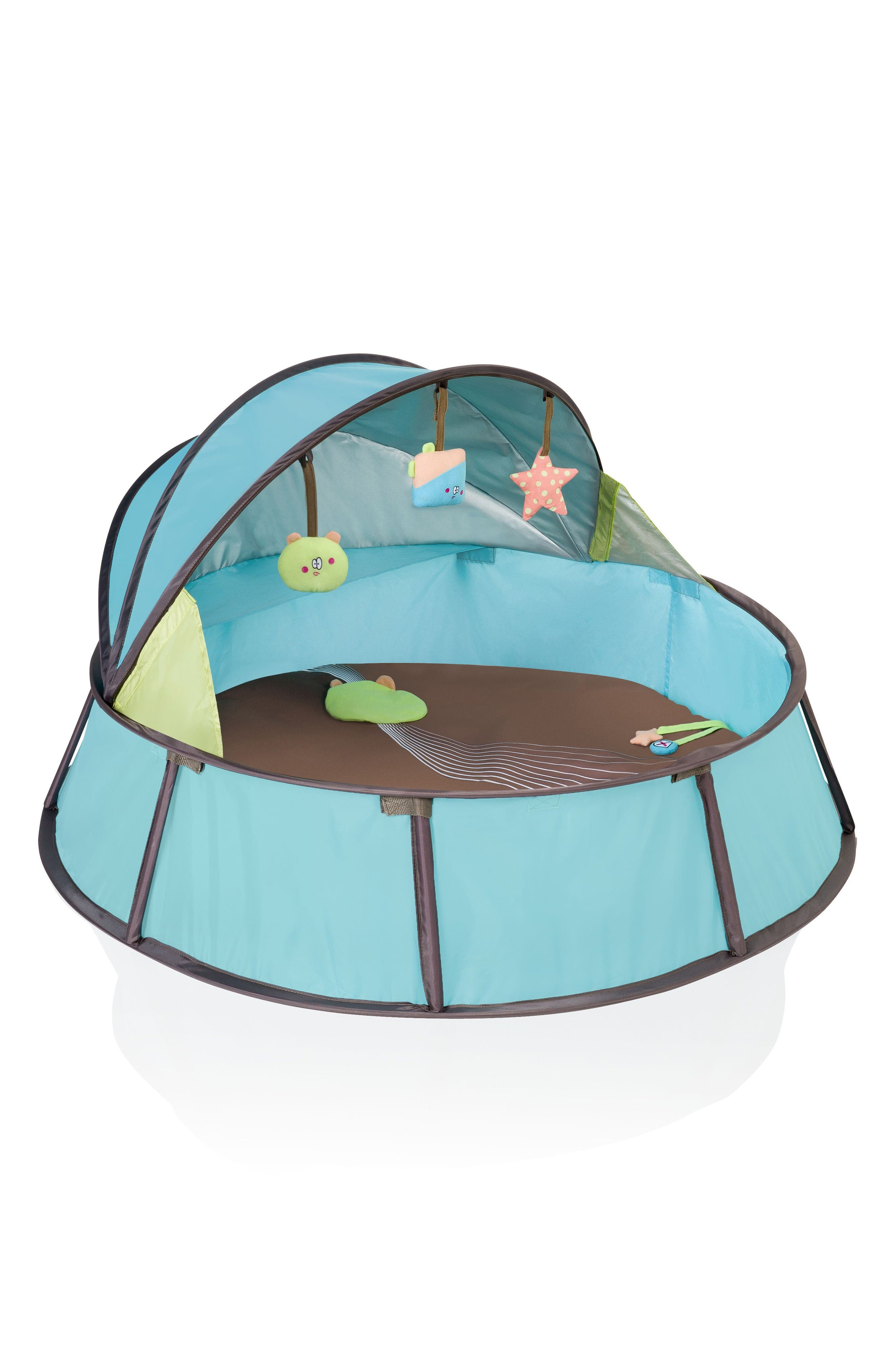 Babyni Premium Pop-Up Play Pen,                         Main,                         color, Blue Green