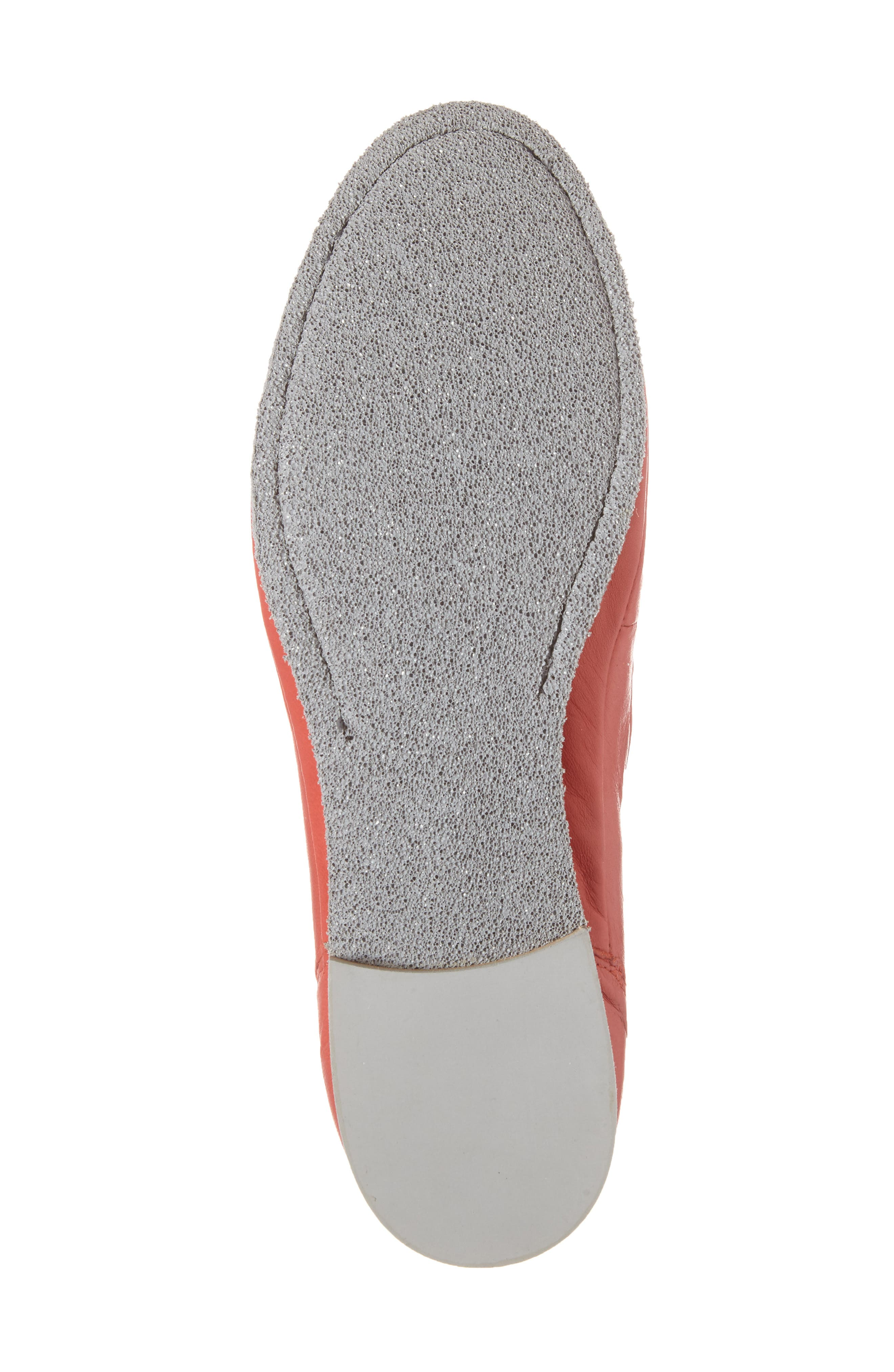Ballet Strappy Flat,                             Alternate thumbnail 6, color,                             Red Leather
