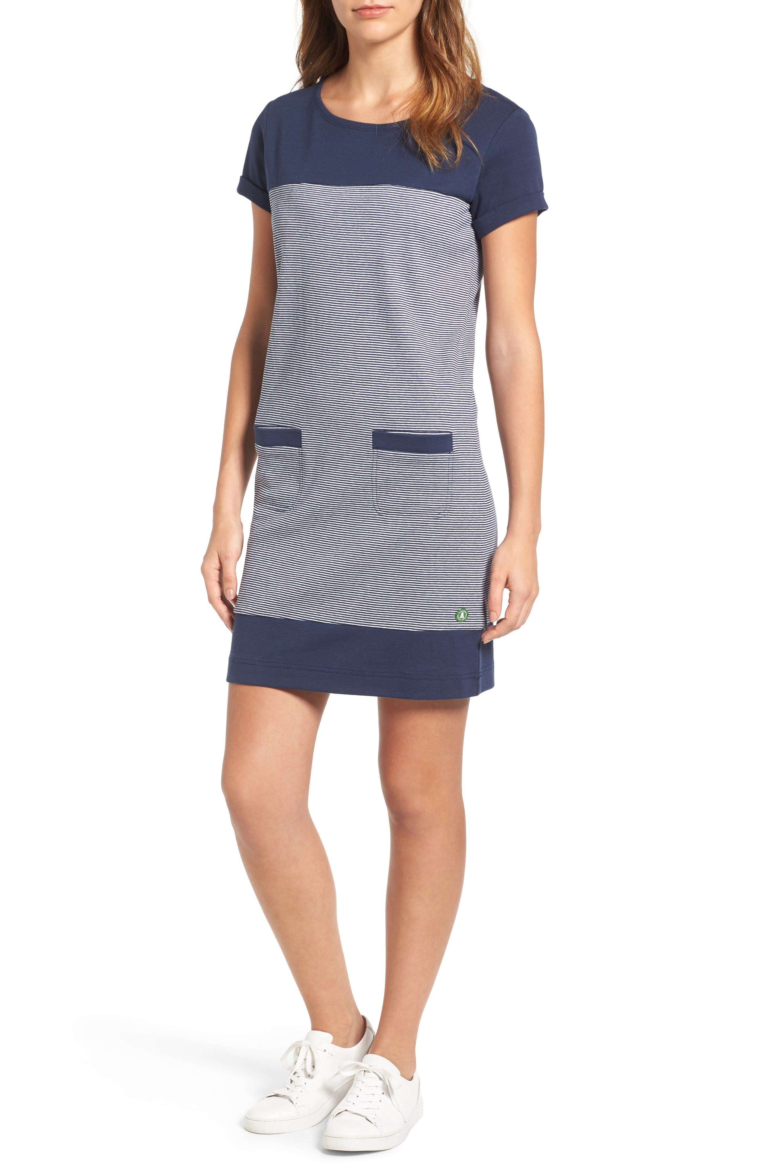 Saltburn T-Shirt Dress,                         Main,                         color, French Navy
