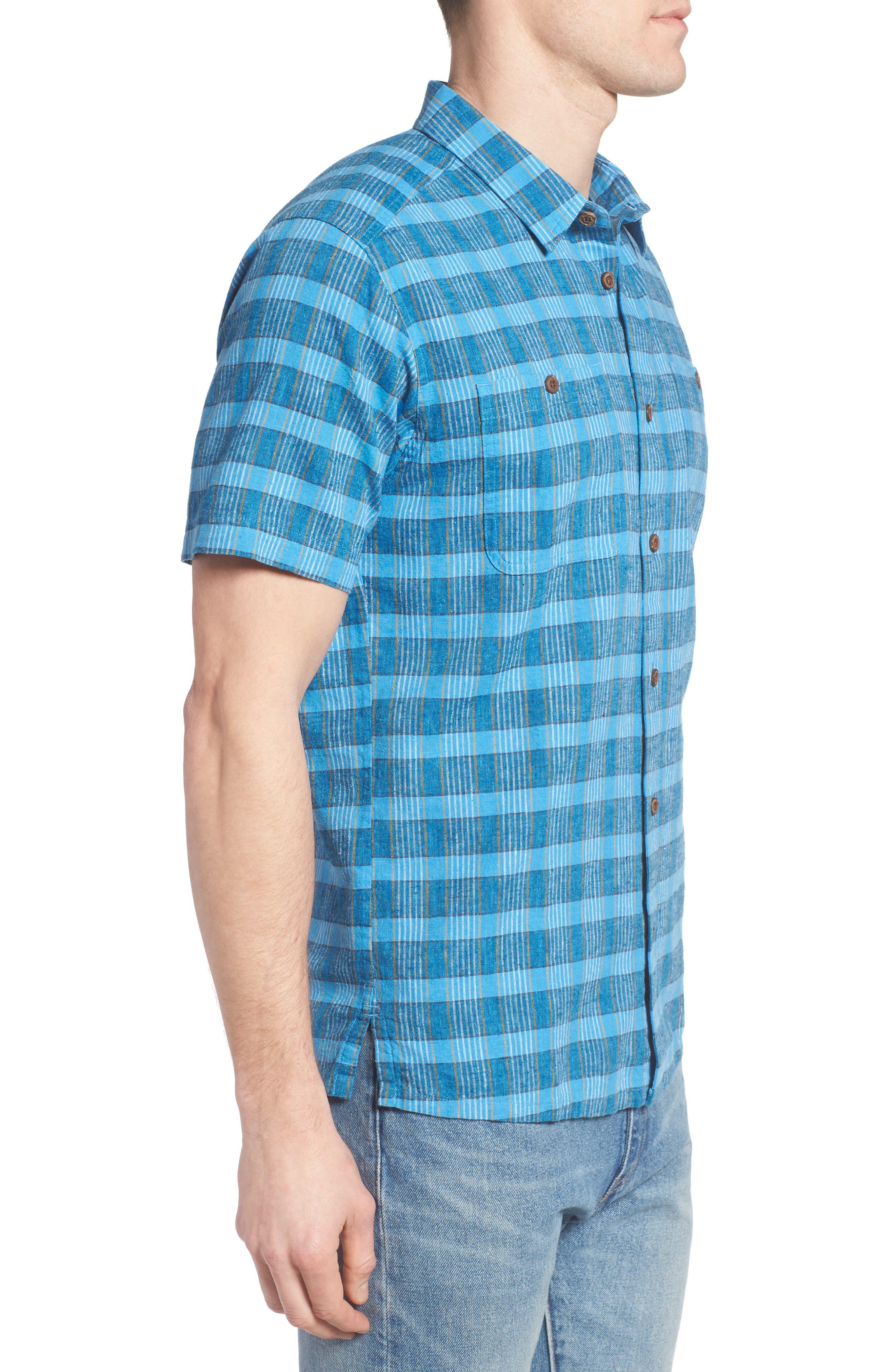 Alternate Image 3  - Patagonia 'Back Step' Regular Fit Check Short Sleeve Sport Shirt