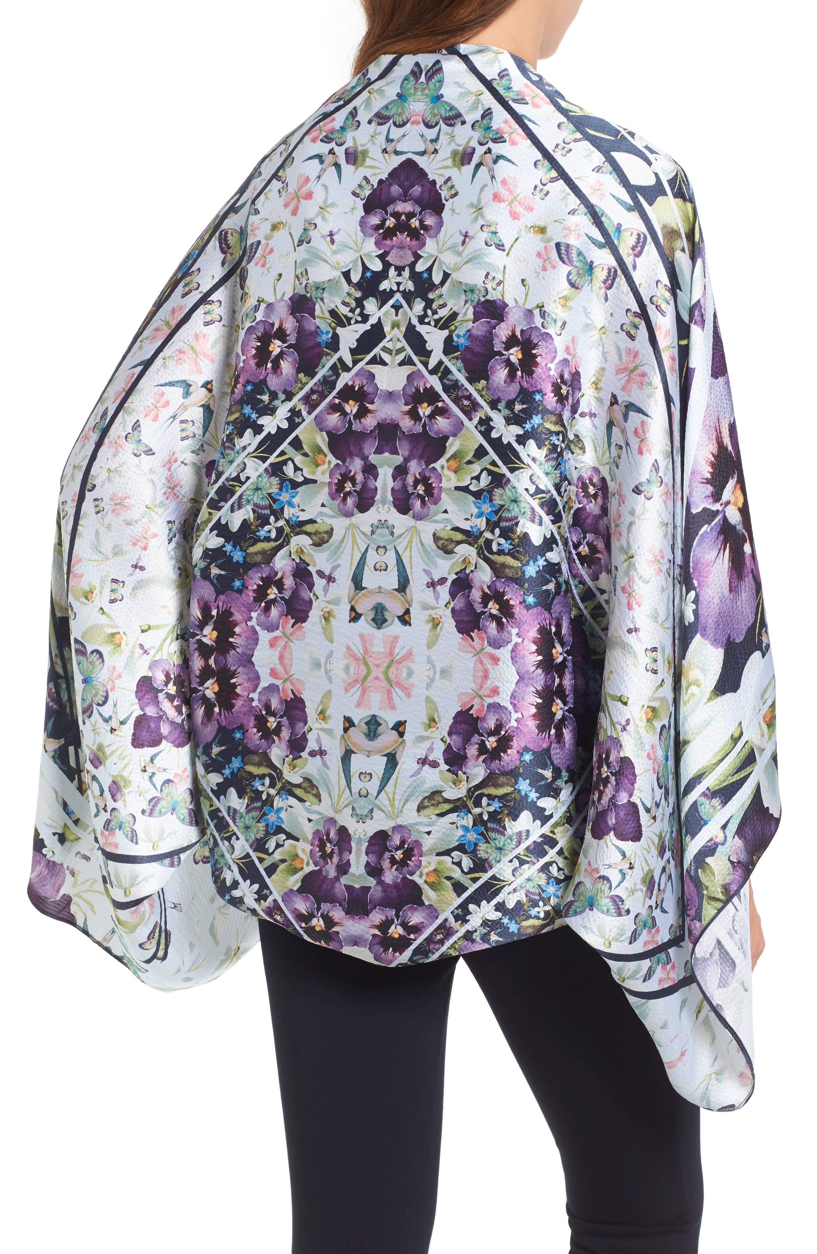 Alternate Image 2  - Ted Baker London Elva Enchantment Cape Scarf