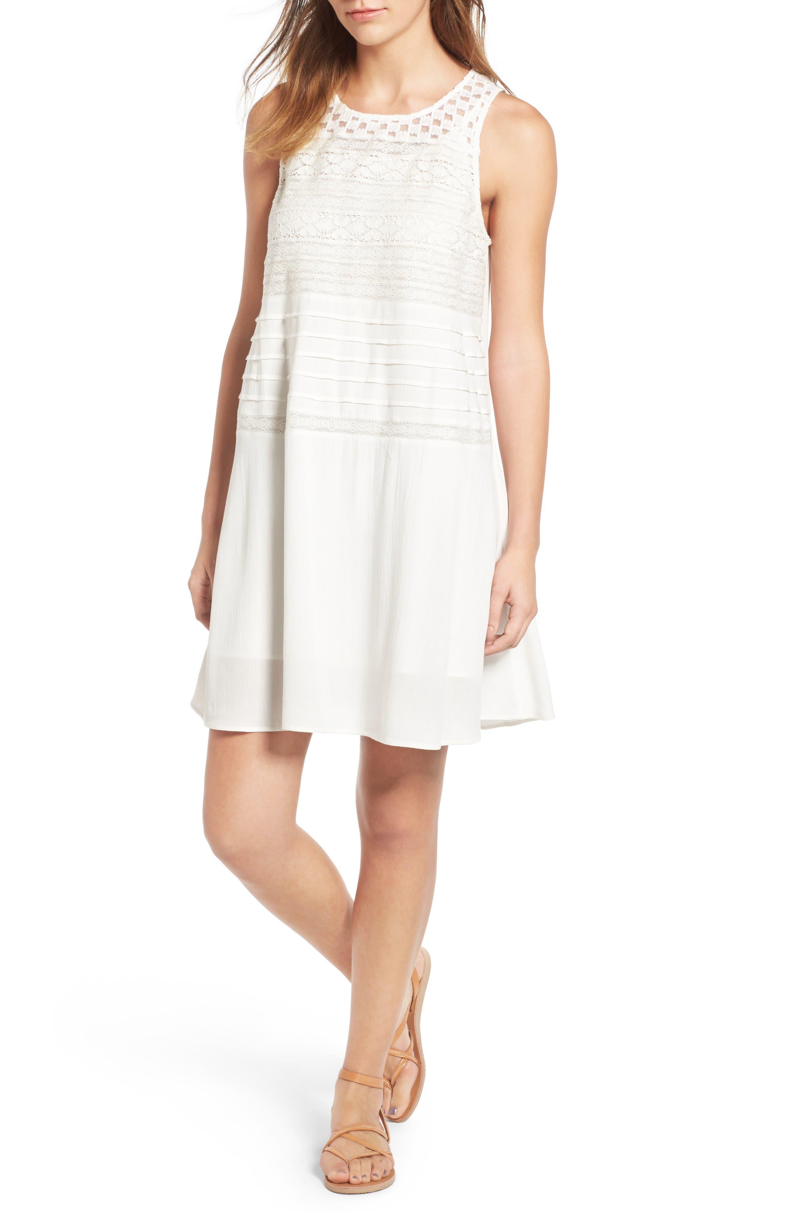 Lace Shift Dress,                         Main,                         color, Ivory Cloud