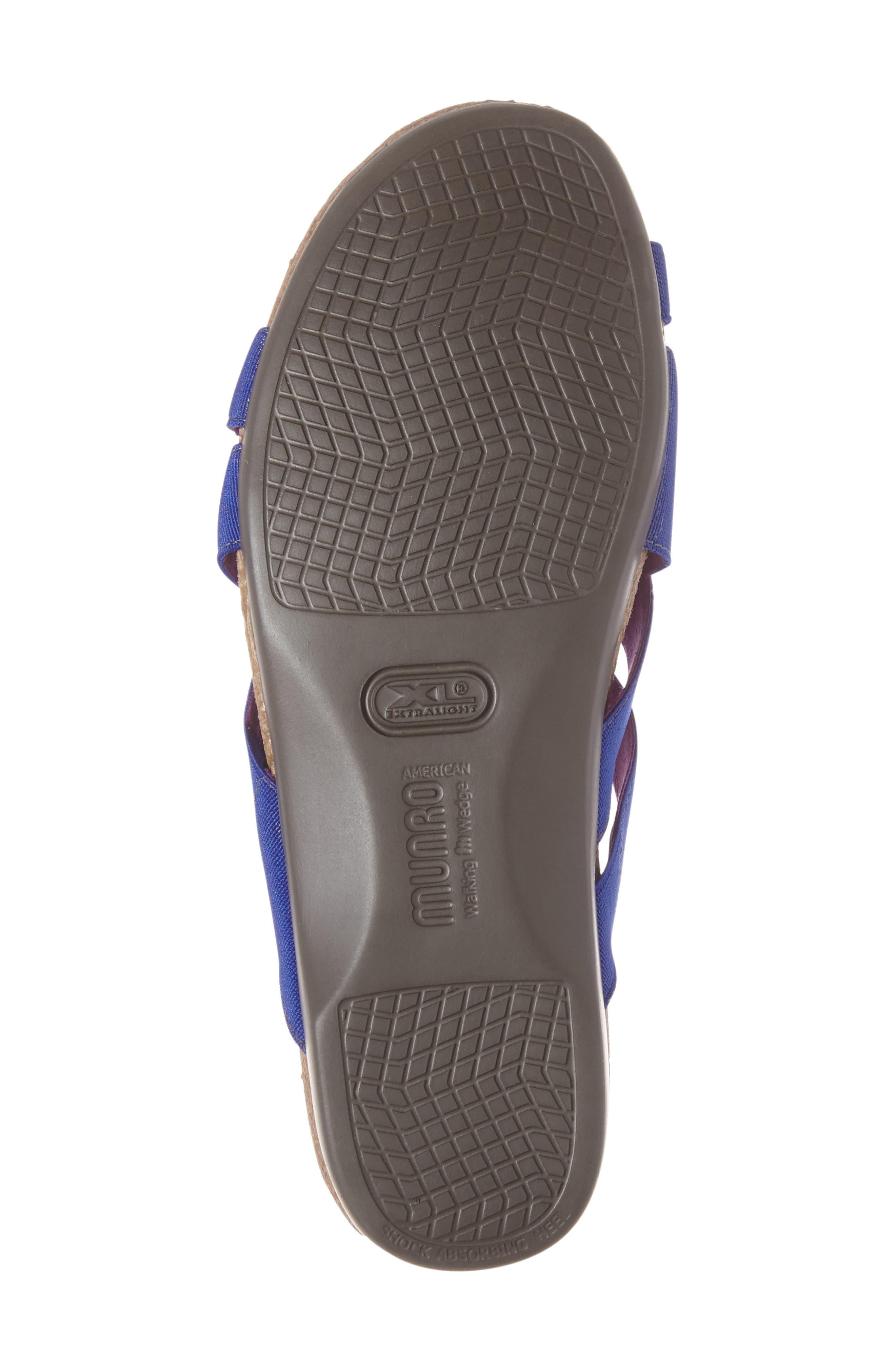 Delphi Slide Sandal,                             Alternate thumbnail 6, color,                             Blue Fabric