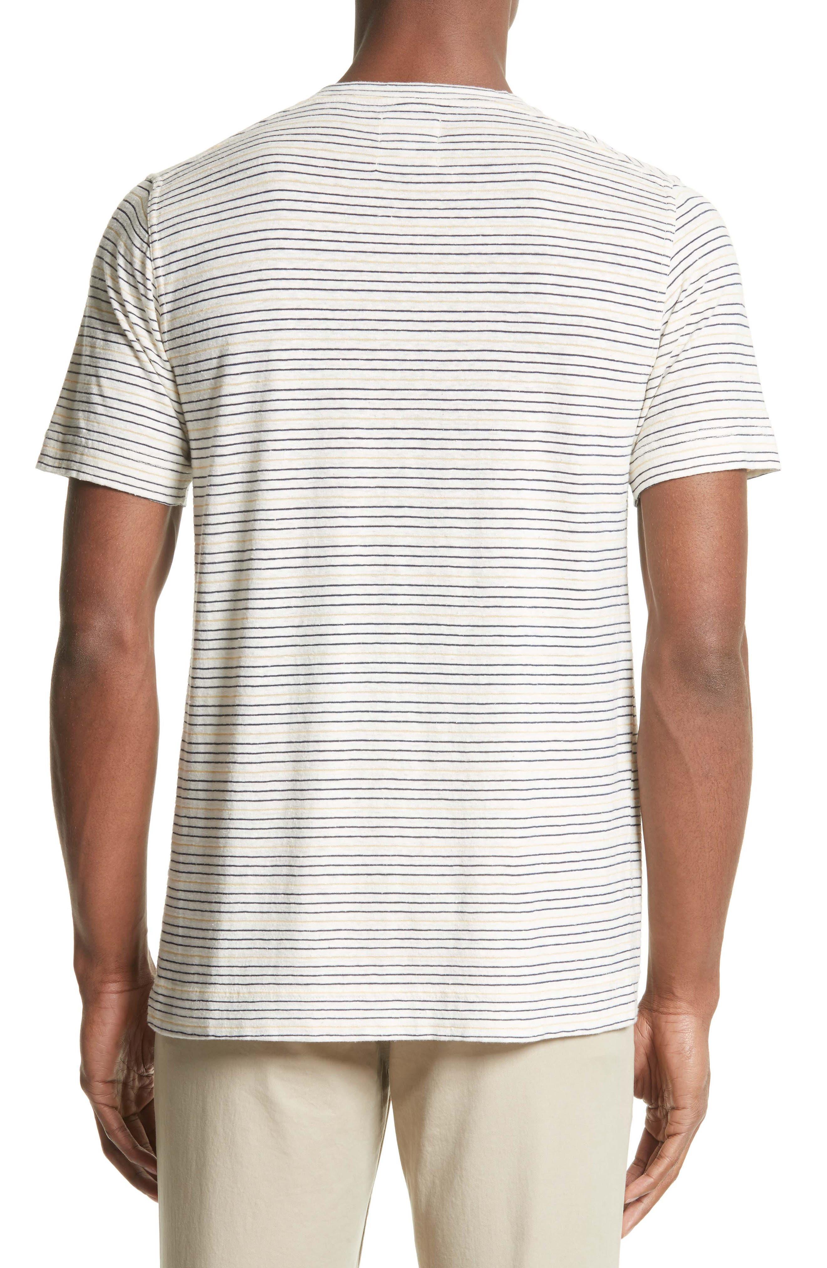Stripe T-Shirt,                             Alternate thumbnail 2, color,                             Dried Olive/ Ecru