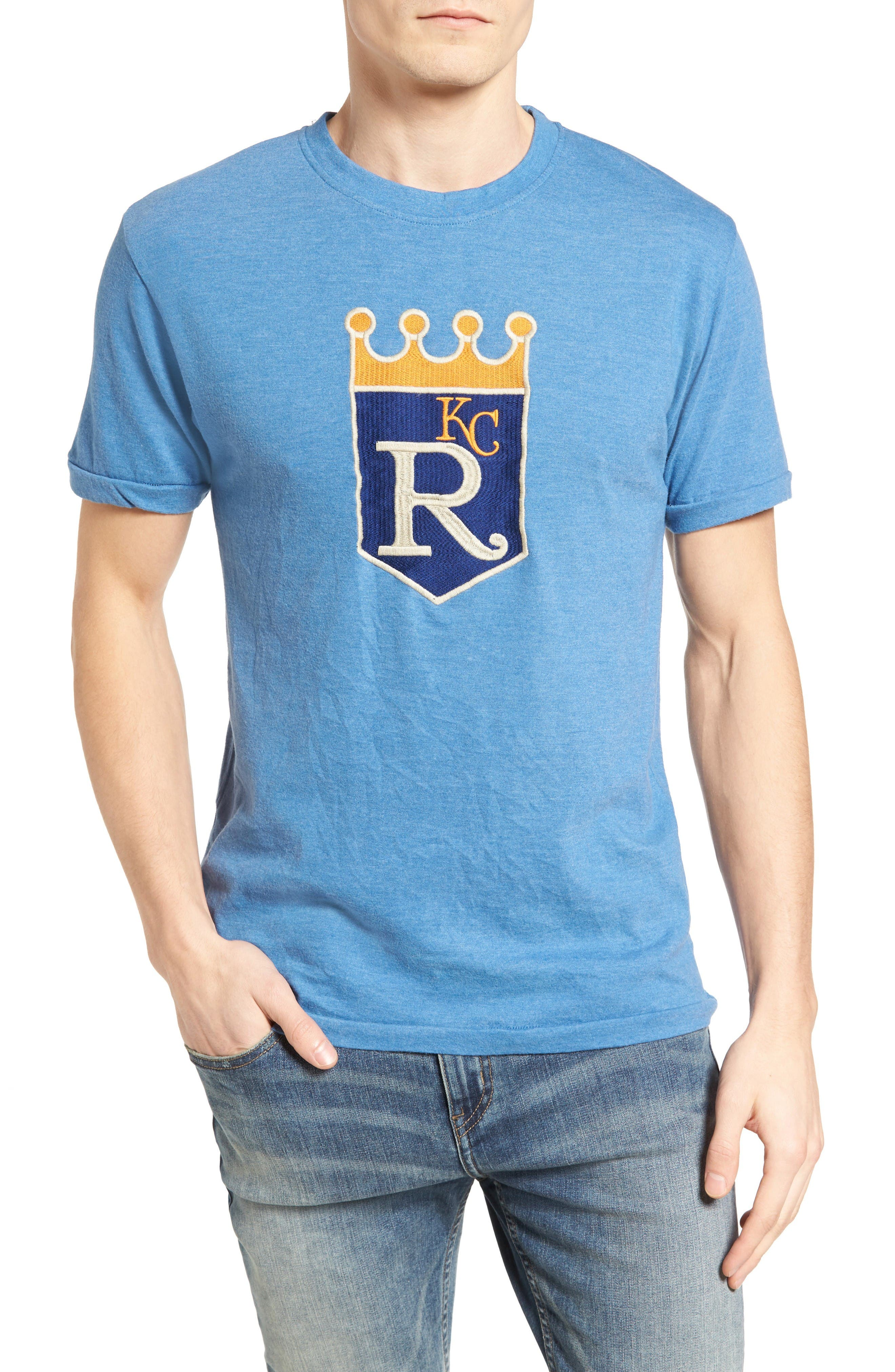 Hillwood Kansas City Royals T-Shirt,                         Main,                         color, Heather Royal