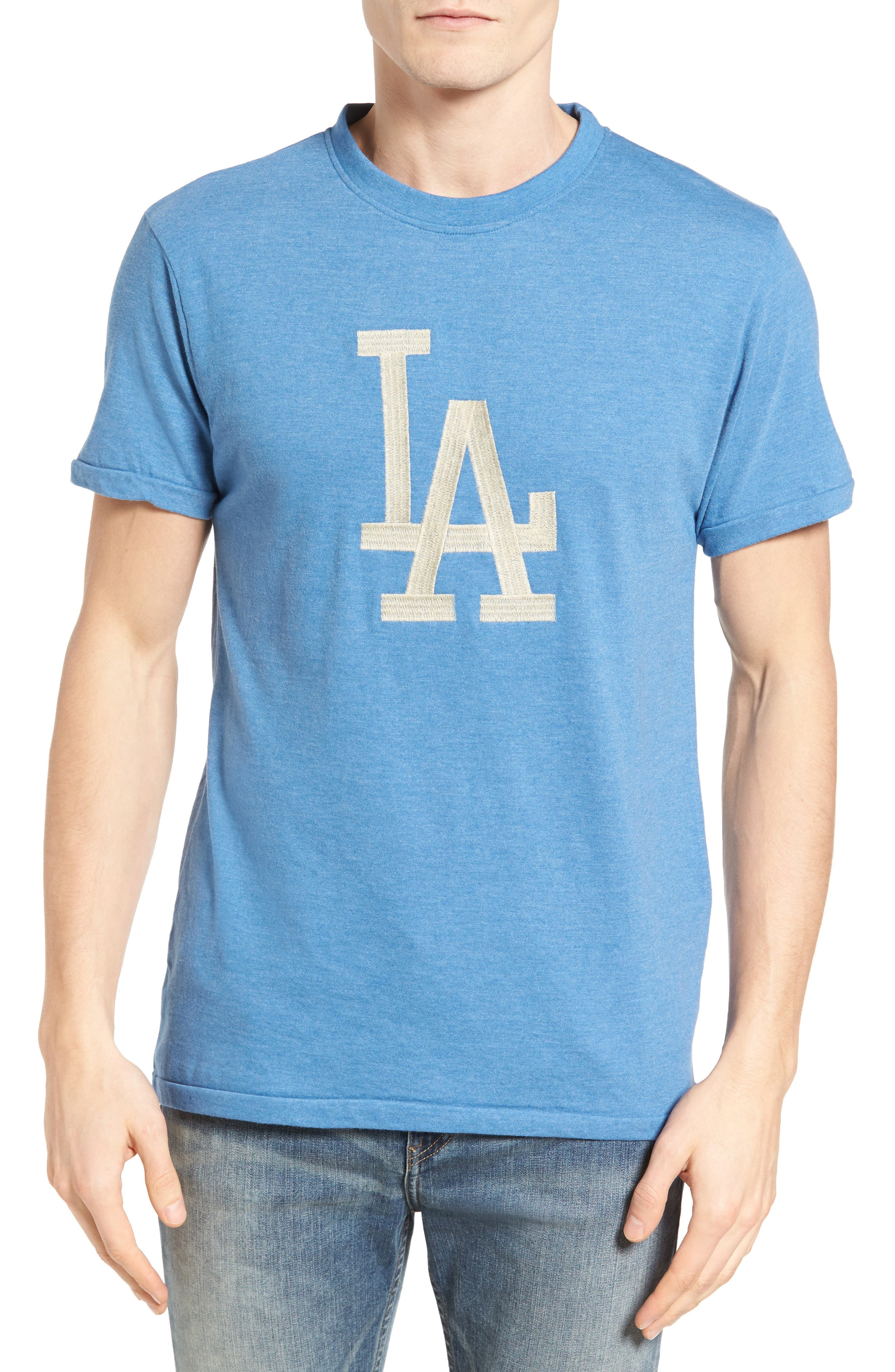 Hillwood Los Angeles Dodgers T-Shirt,                         Main,                         color, Heather Royal