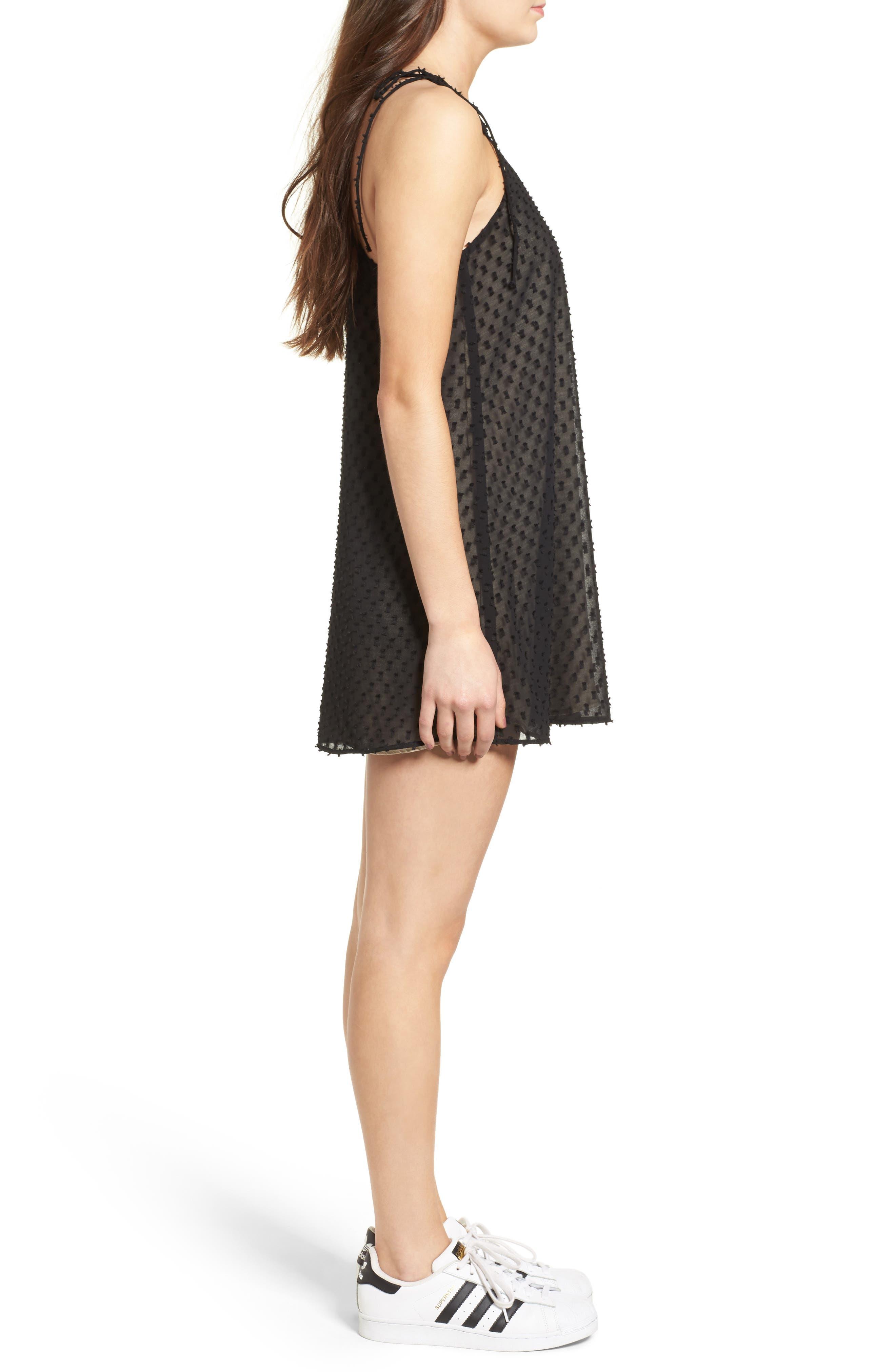 Alyssa Minidress,                             Alternate thumbnail 3, color,                             Black