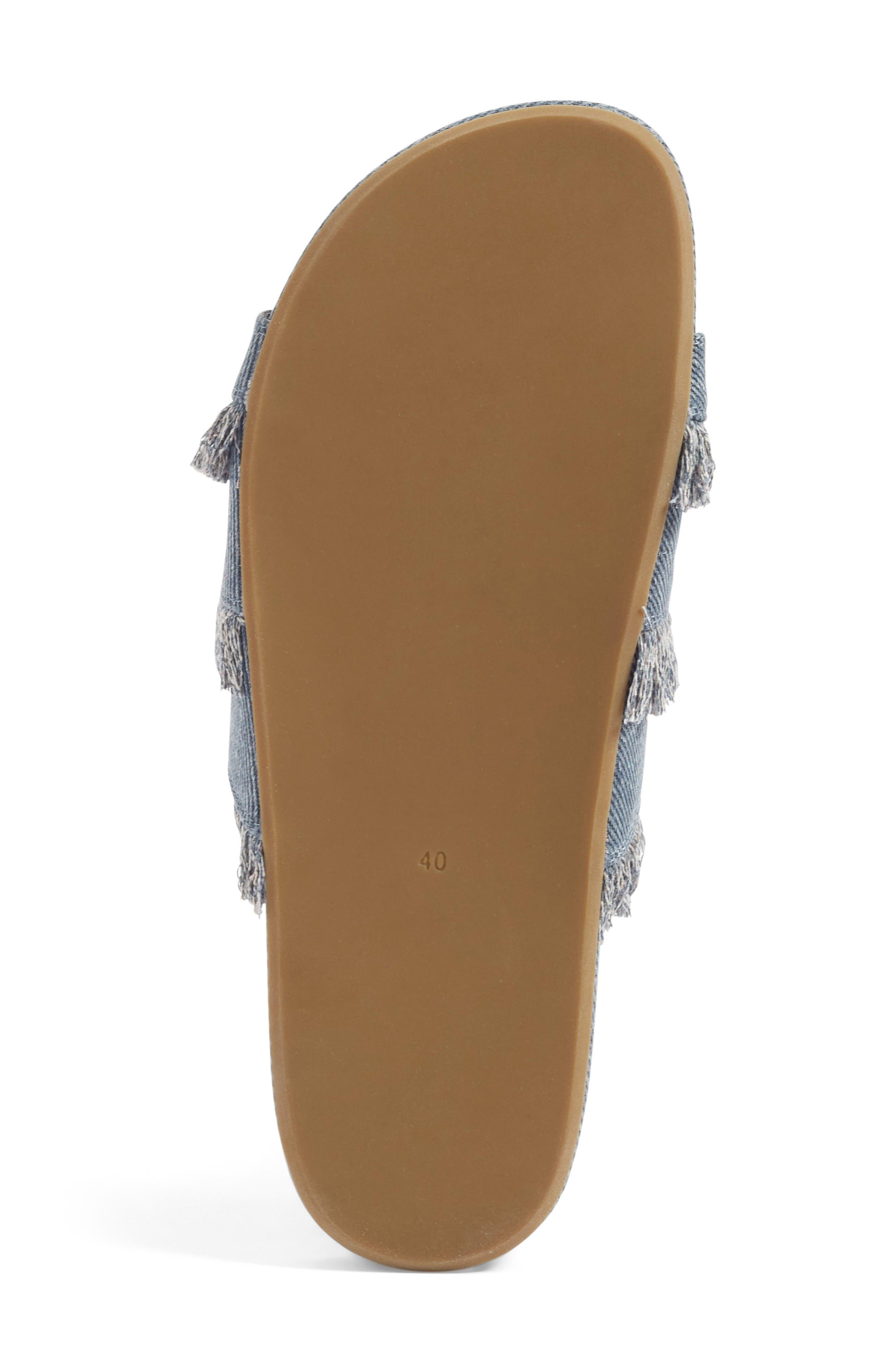 Jaden Slide Sandal,                             Alternate thumbnail 4, color,                             Dark Denim