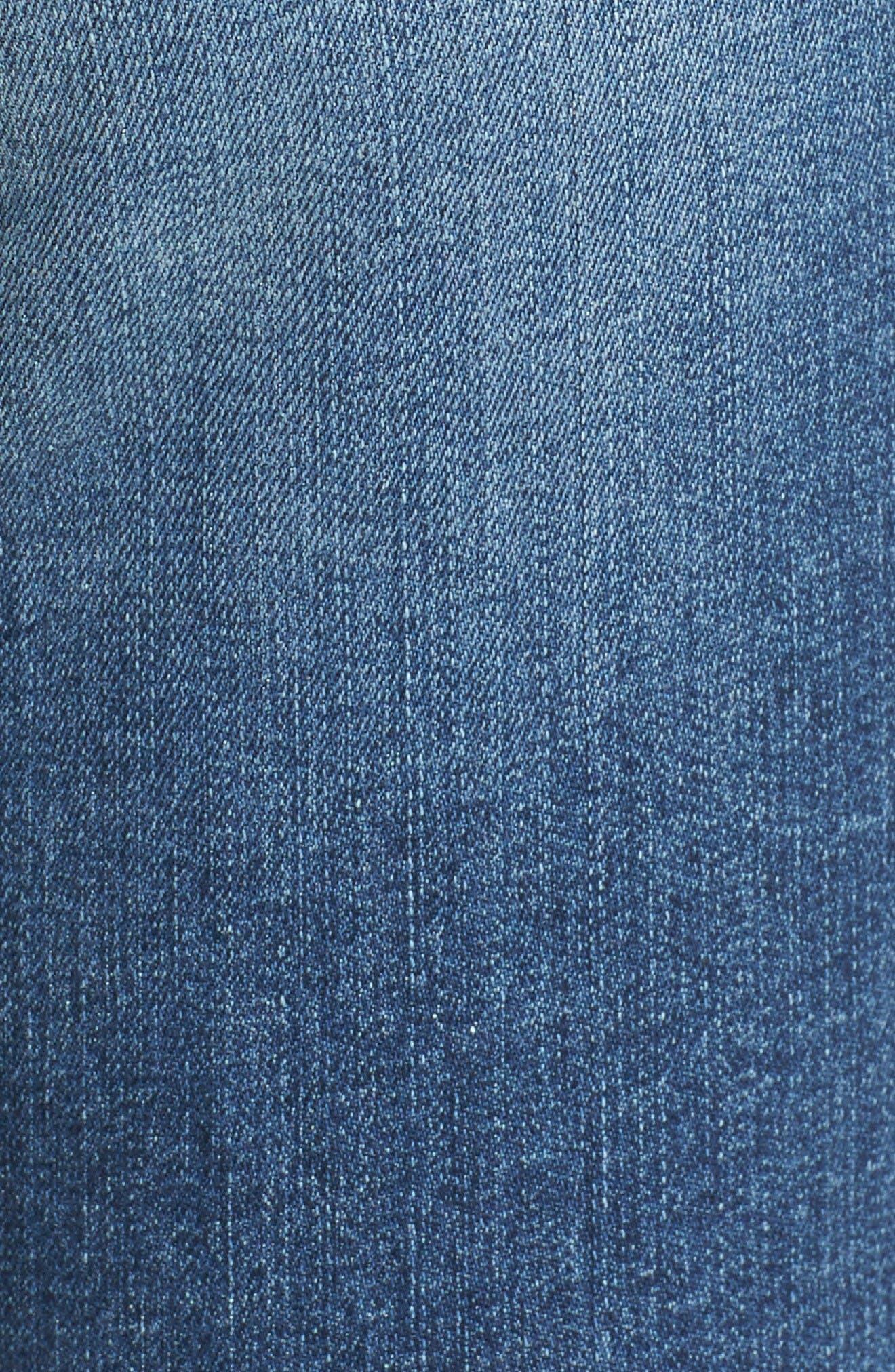 Alternate Image 5  - BP. Ripped Step Hem Skinny Jeans (Destroy Rinse)