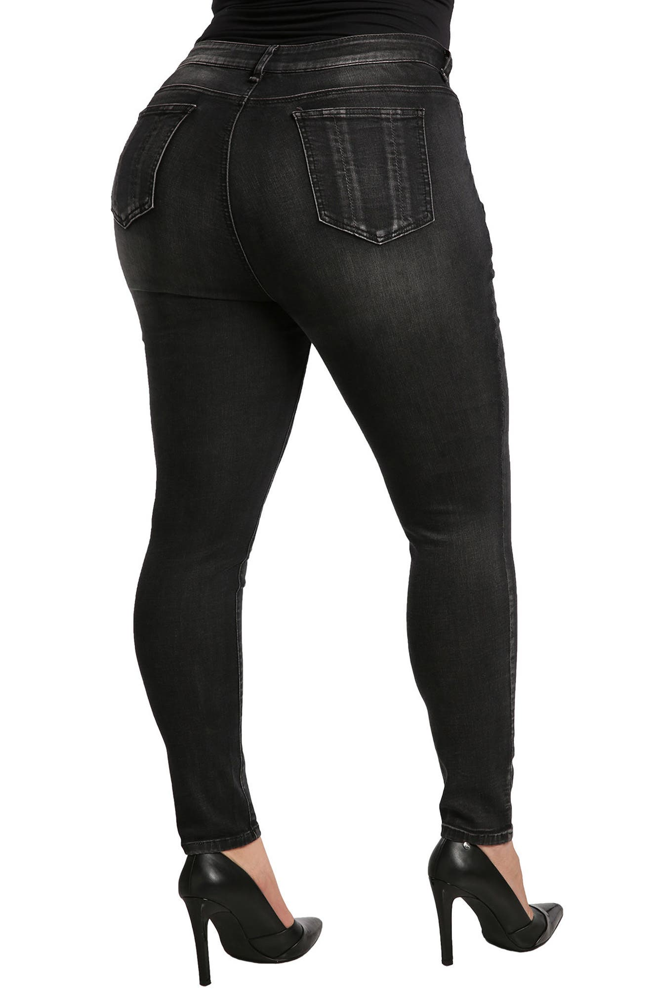 Alternate Image 2  - Standards & Practices Parker Mid Rise Skinny Jeans (Plus Size)