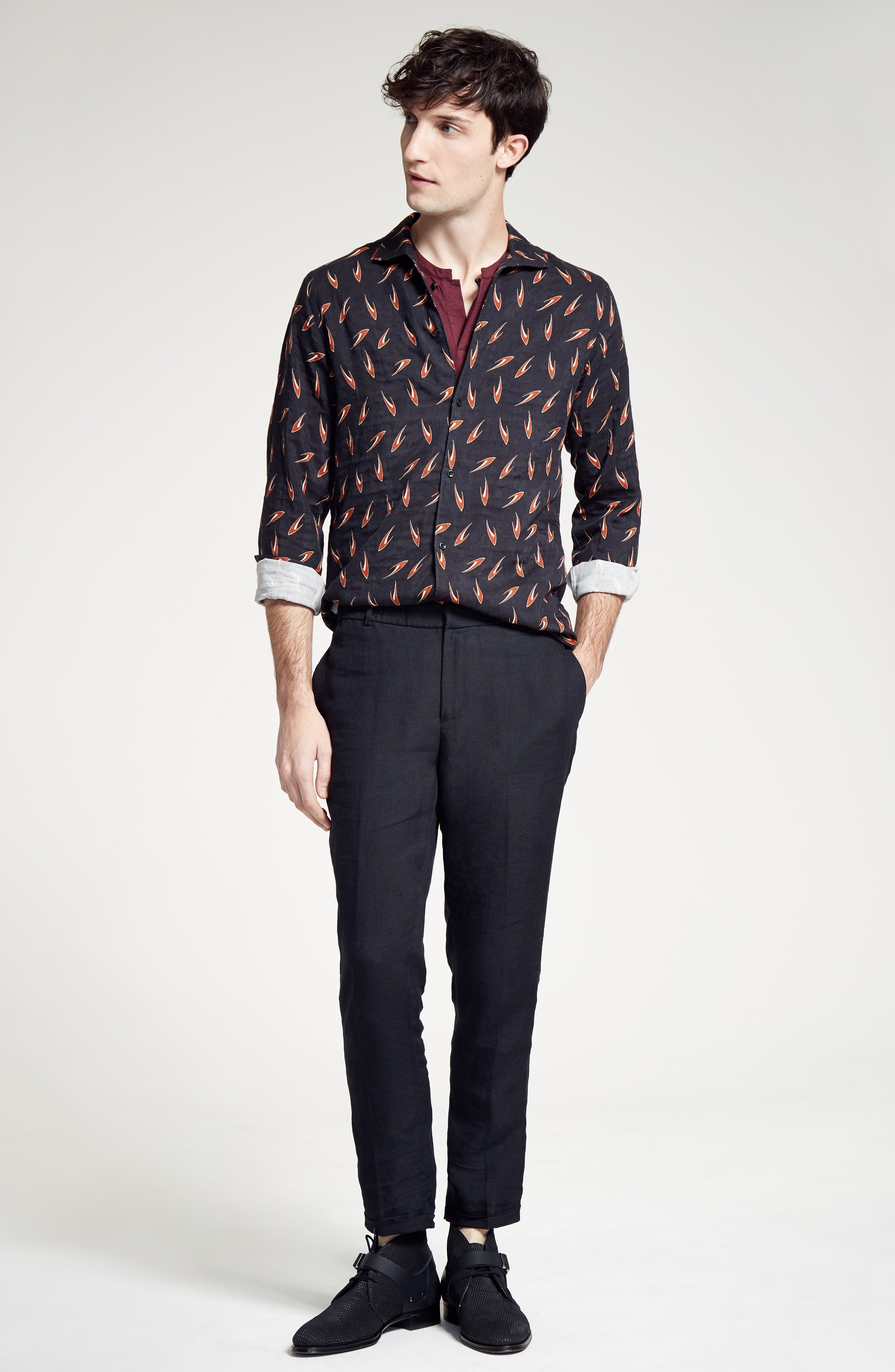 Alternate Image 6  - The Kooples Relaxed Fit Linen Pants