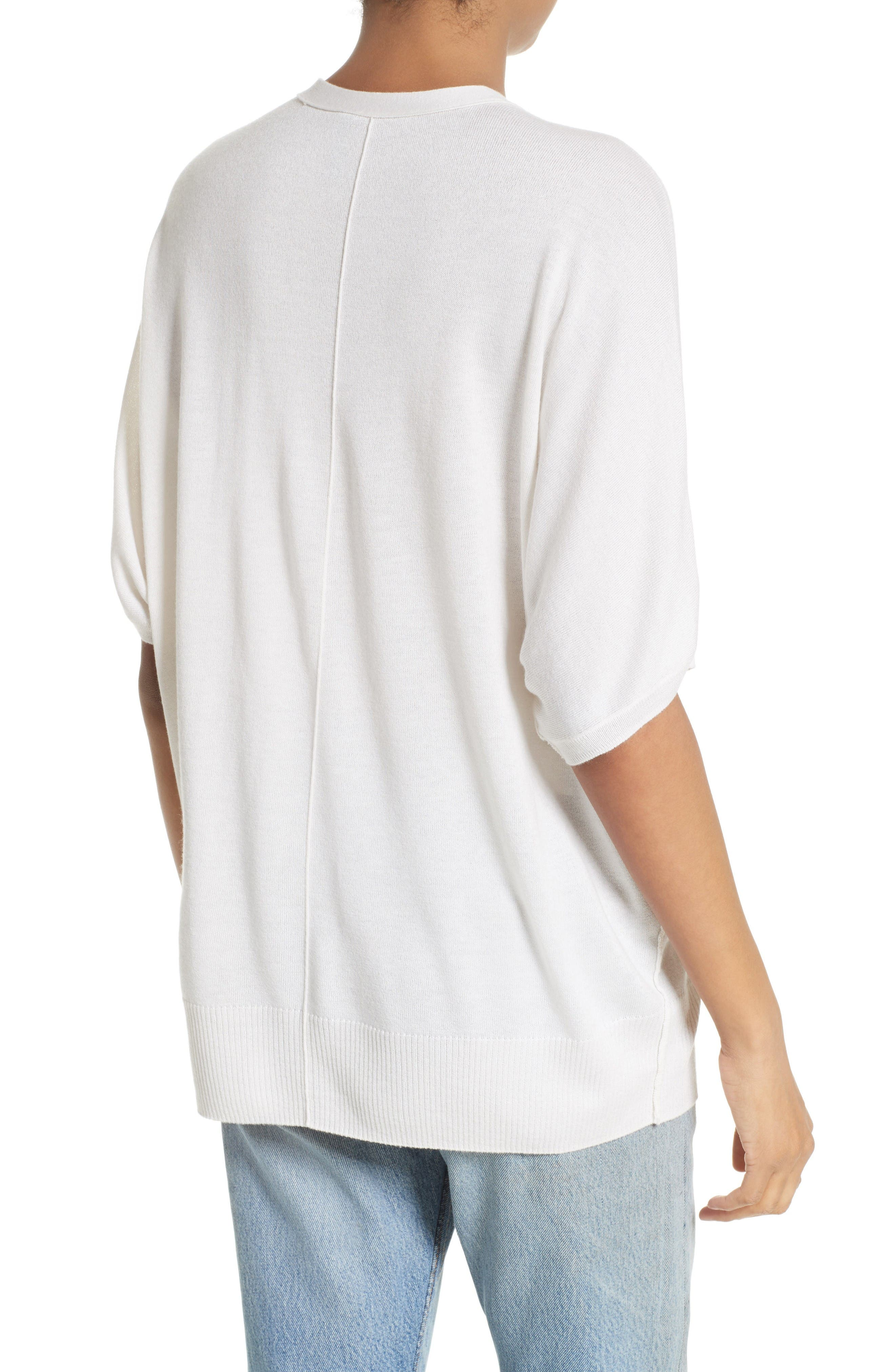 Alternate Image 2  - ATM Anthony Thomas Melillo Silk Blend Batwing Henley Sweater